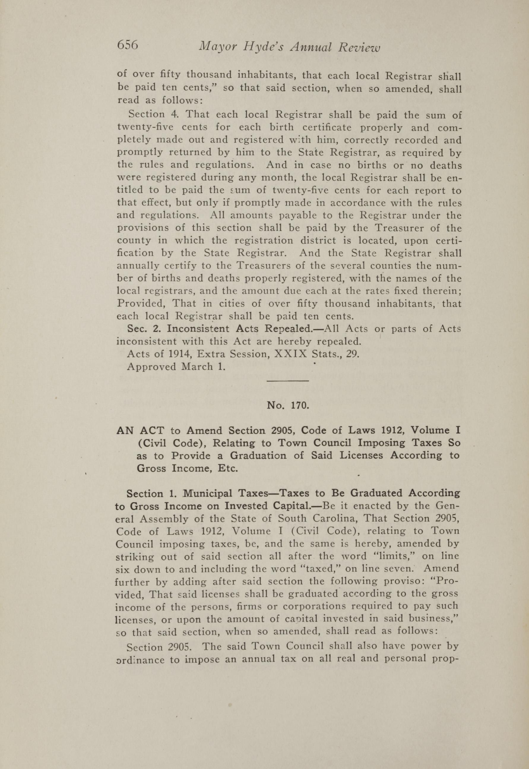 Charleston Yearbook, 1917, page 656