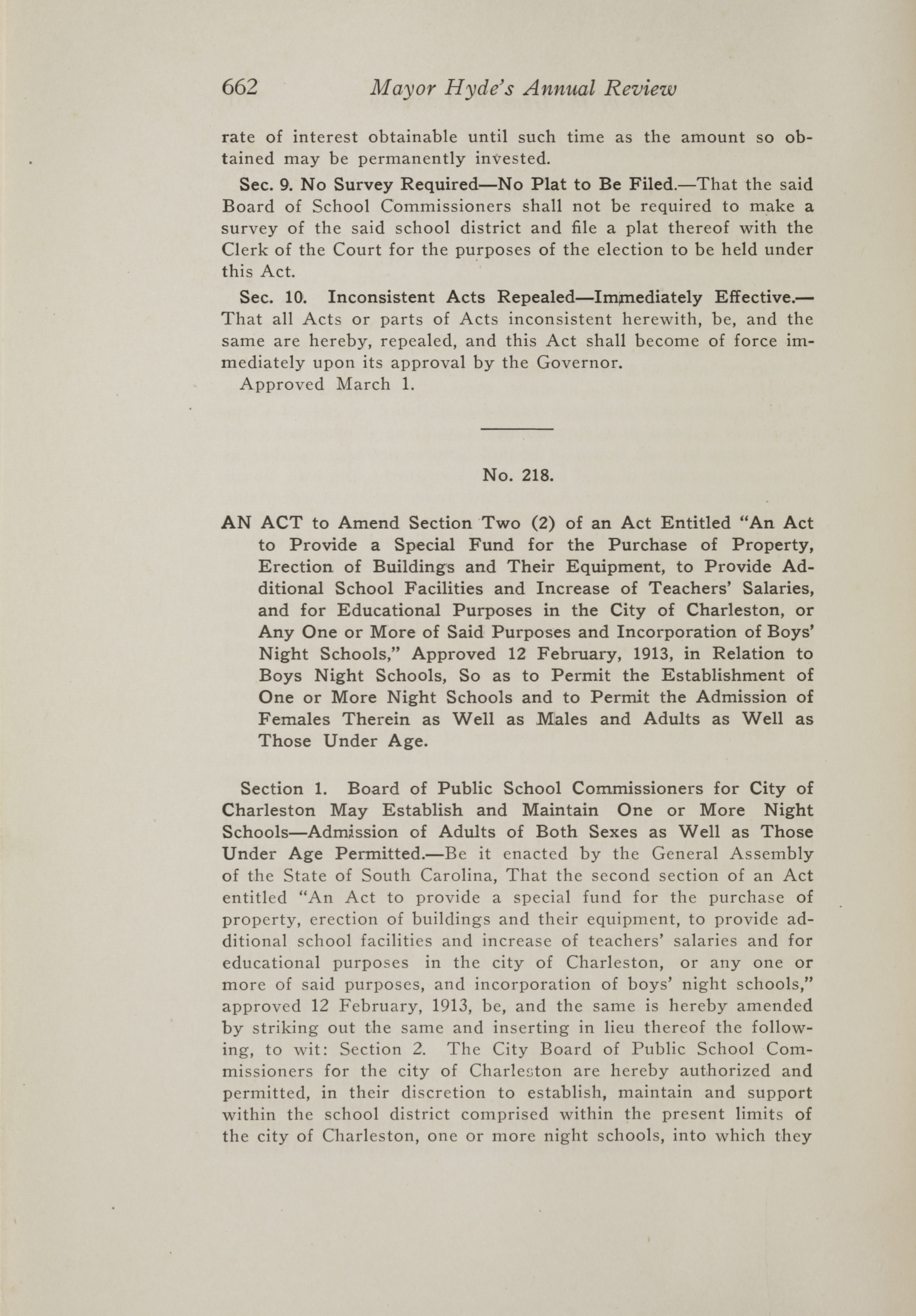 Charleston Yearbook, 1917, page 662