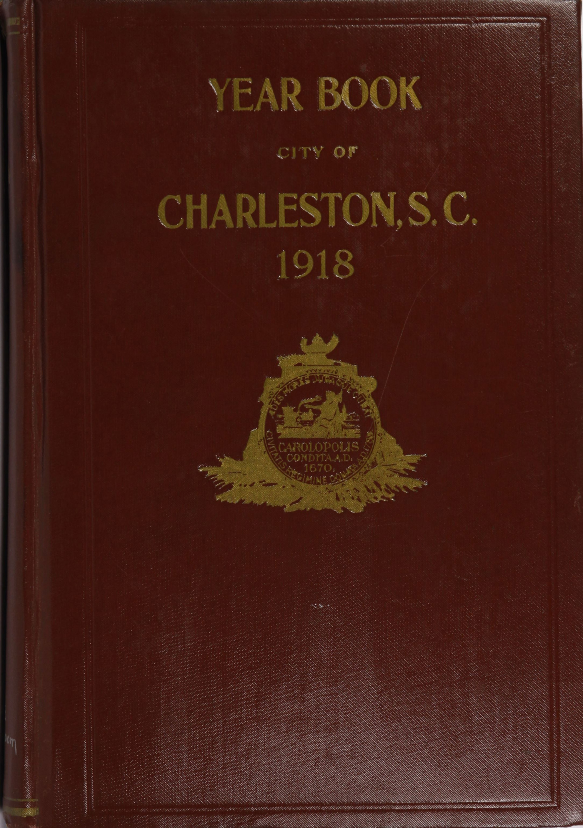 Charleston Yearbook, 1918, cover