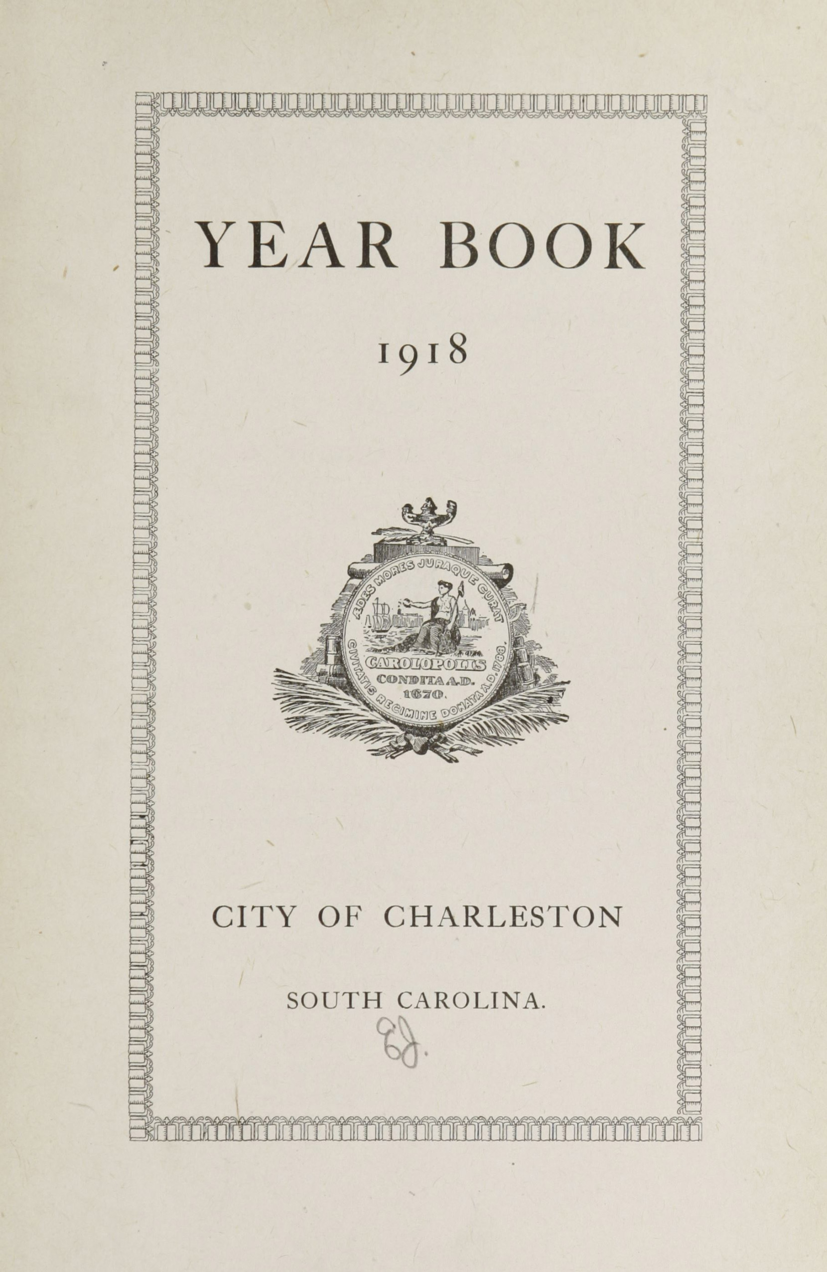 Charleston Yearbook, 1918, page i