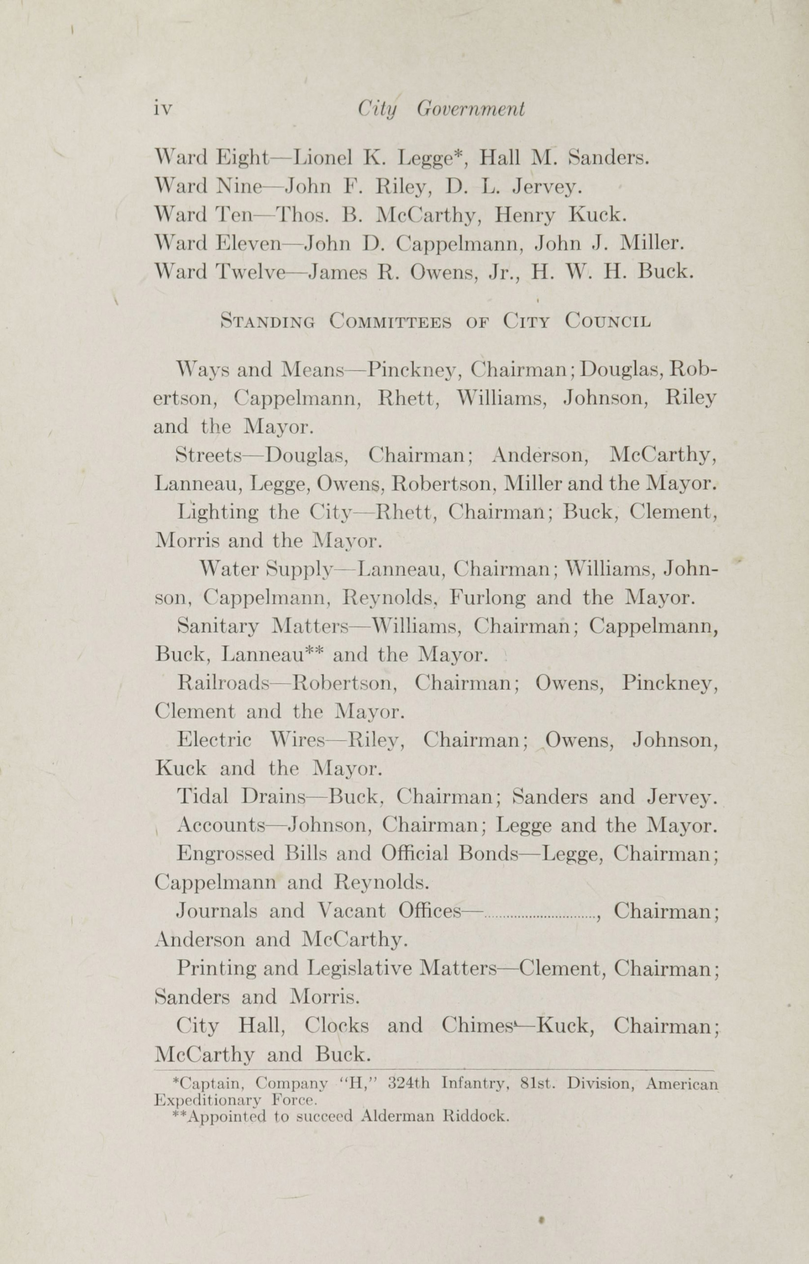 Charleston Yearbook, 1918, page iv