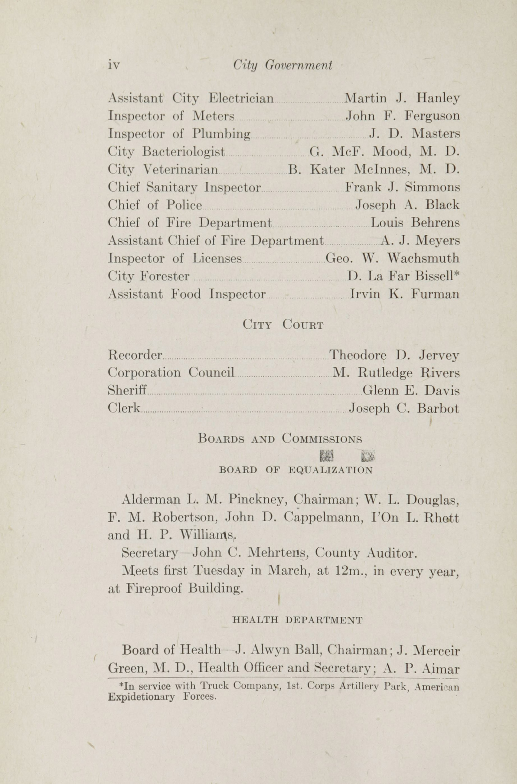 Charleston Yearbook, 1918, page vi