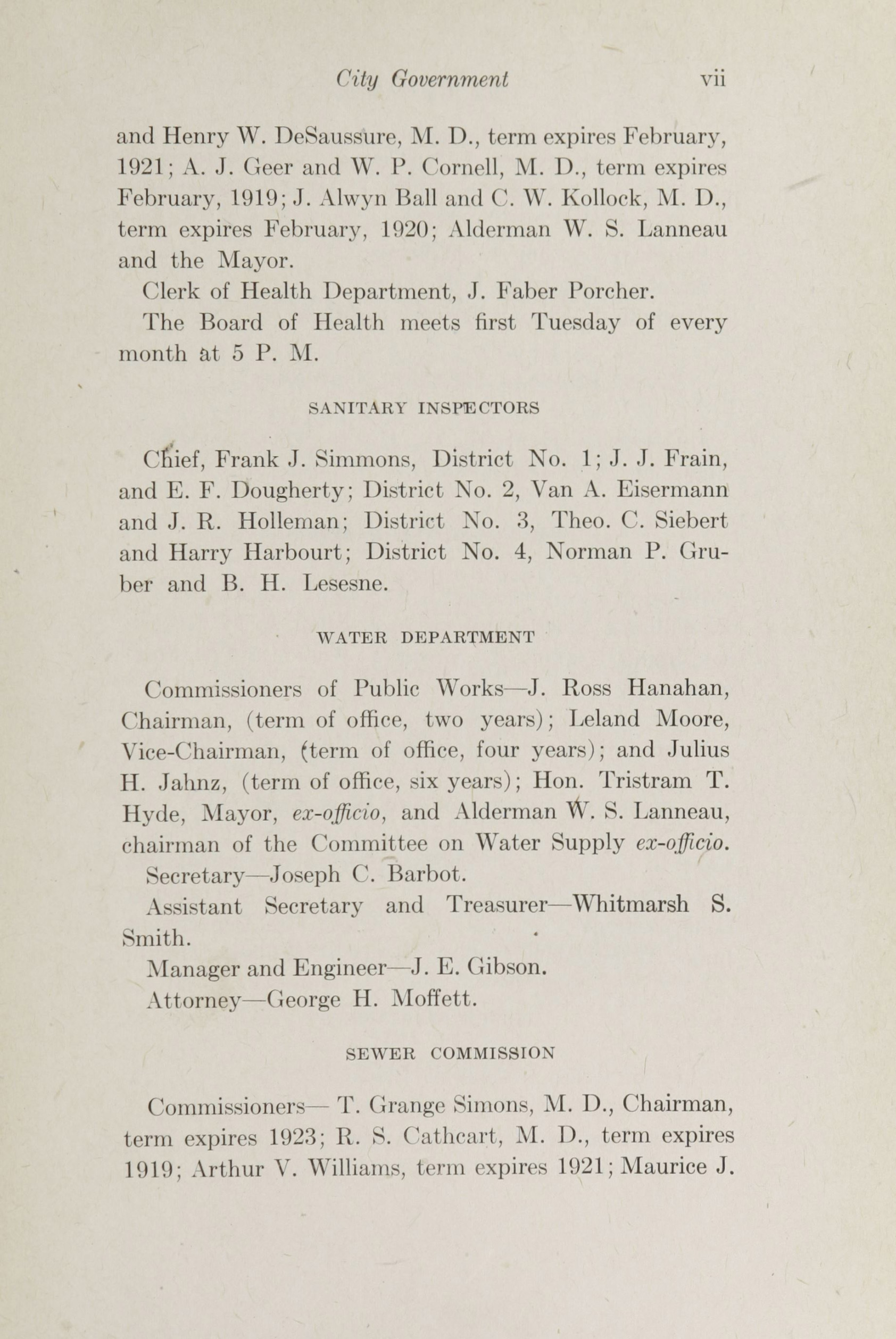 Charleston Yearbook, 1918, page vii