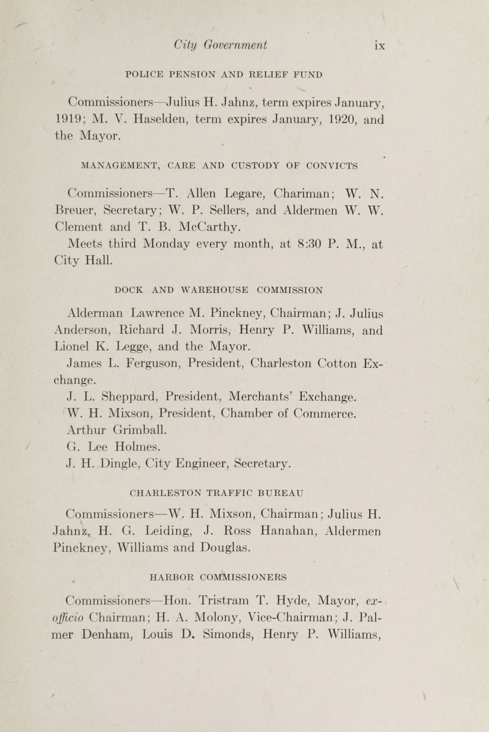 Charleston Yearbook, 1918, page ix