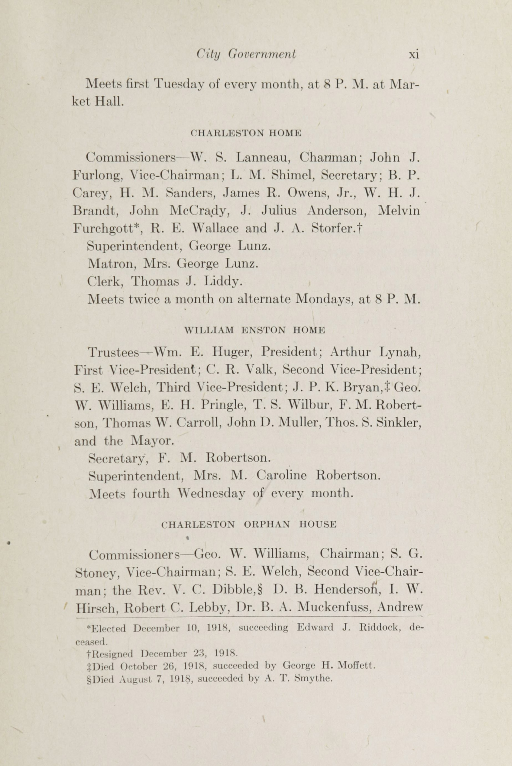 Charleston Yearbook, 1918, page xi