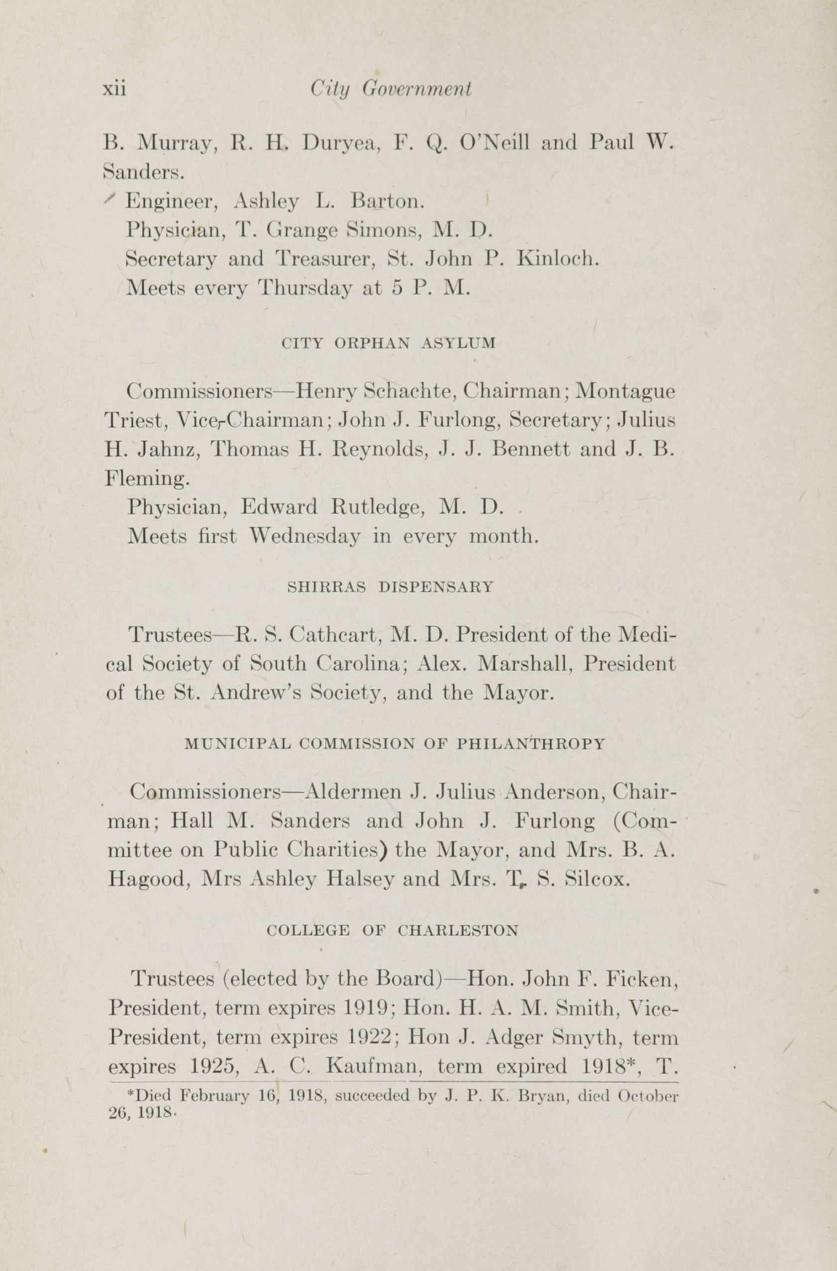 Charleston Yearbook, 1918, page xii