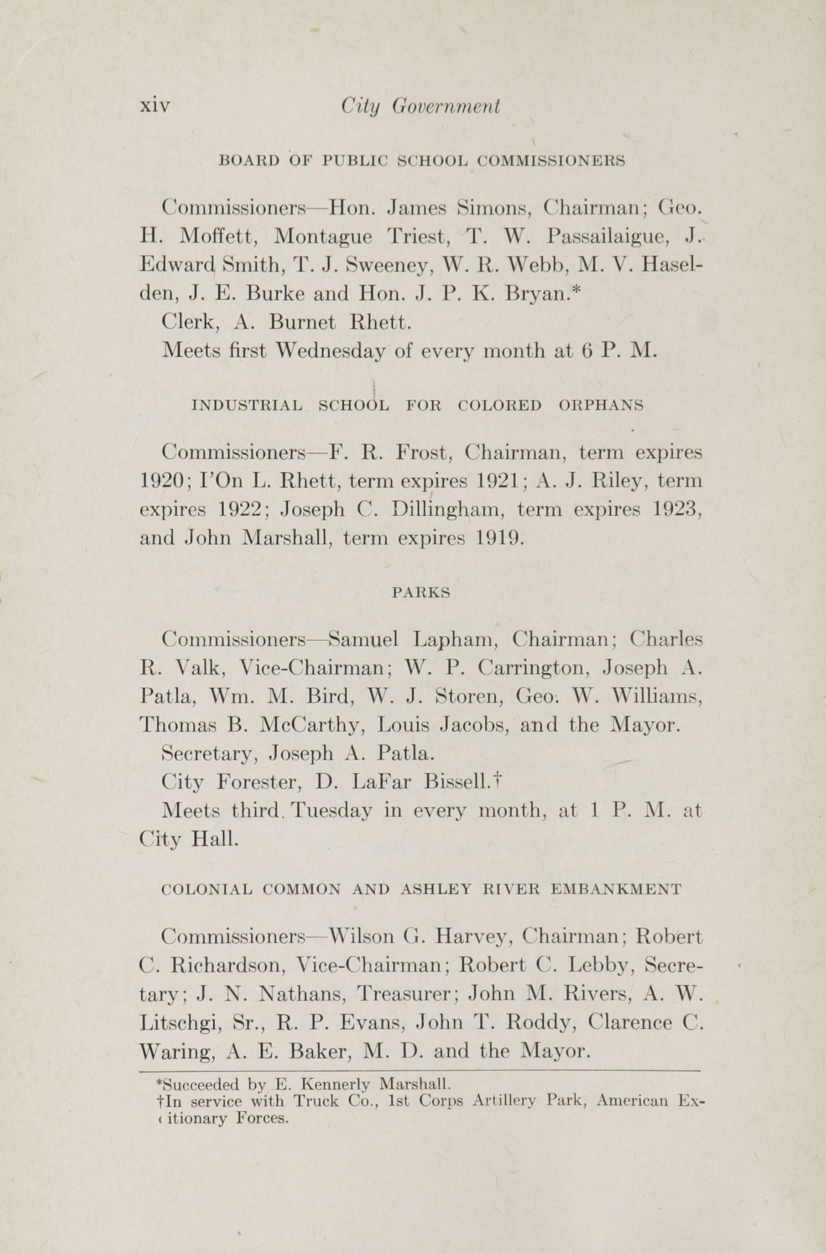 Charleston Yearbook, 1918, page xiv