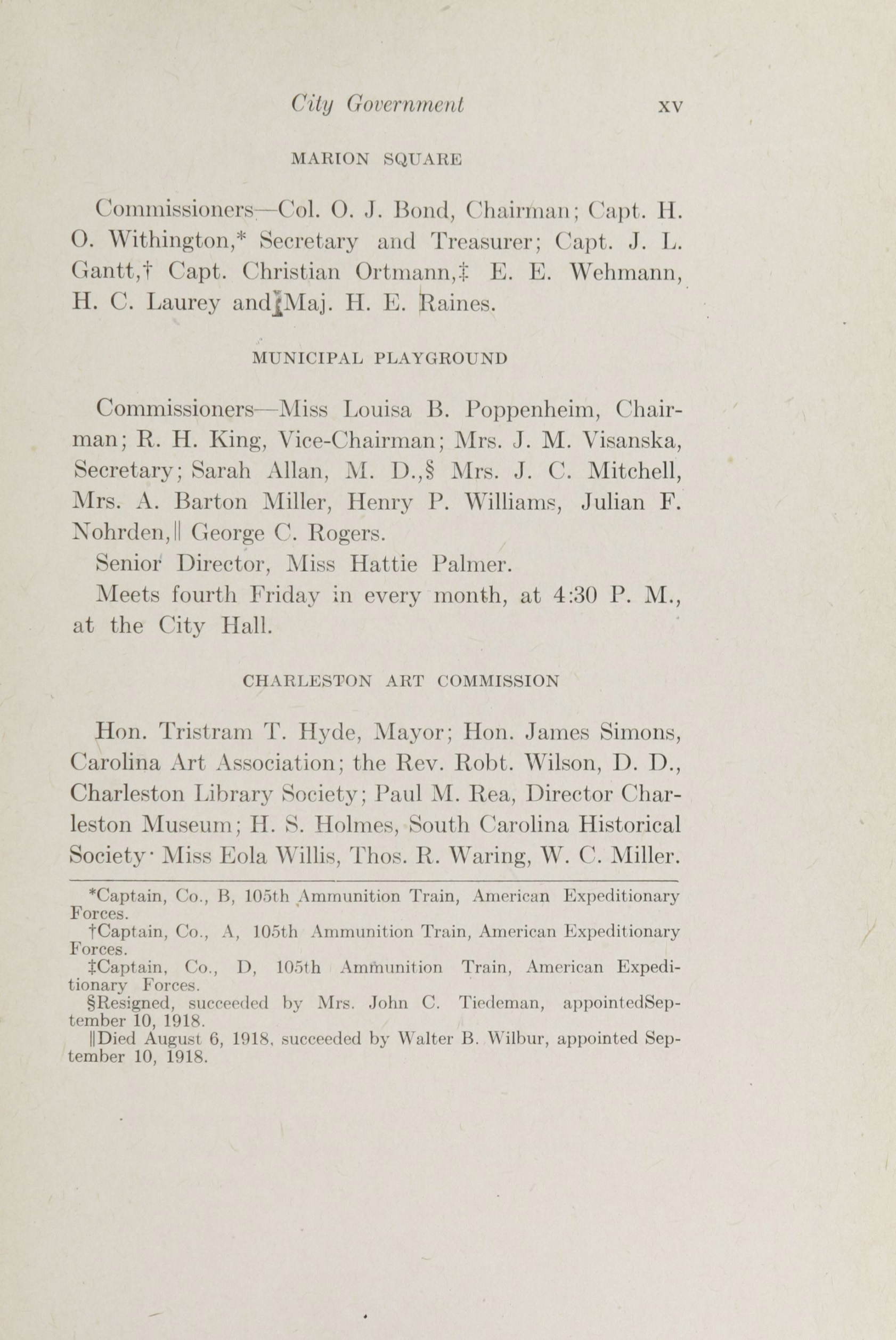 Charleston Yearbook, 1918, page xv