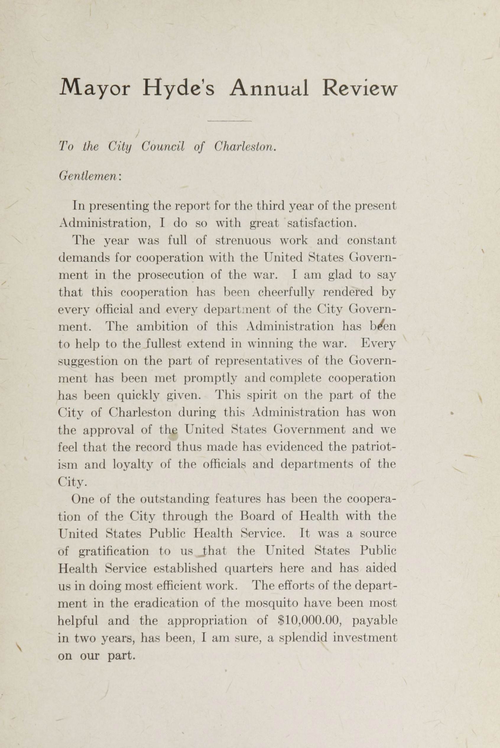 Charleston Yearbook, 1918, page xvii