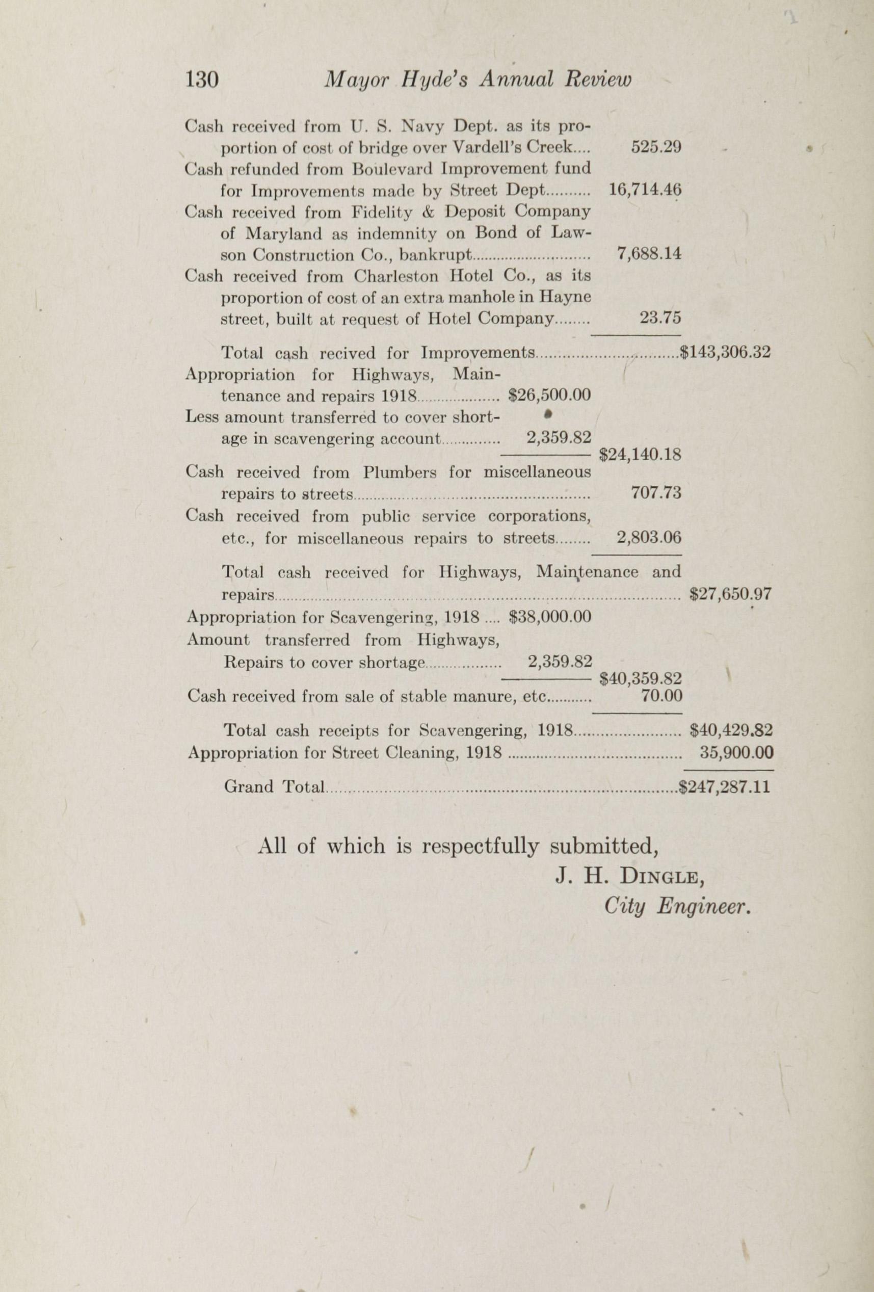 Charleston Yearbook, 1918, page 130