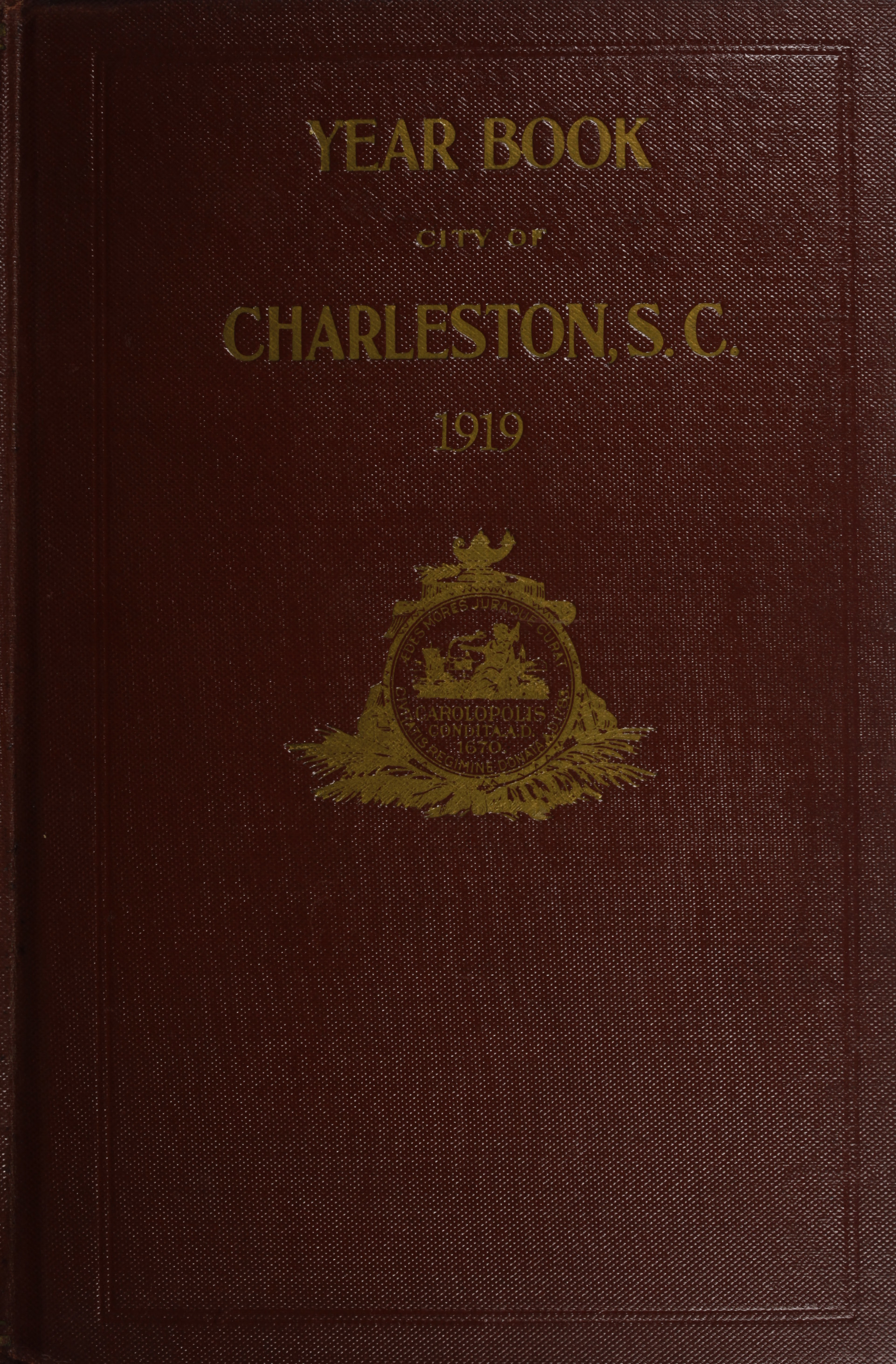 Charleston Yearbook, 1919, cover