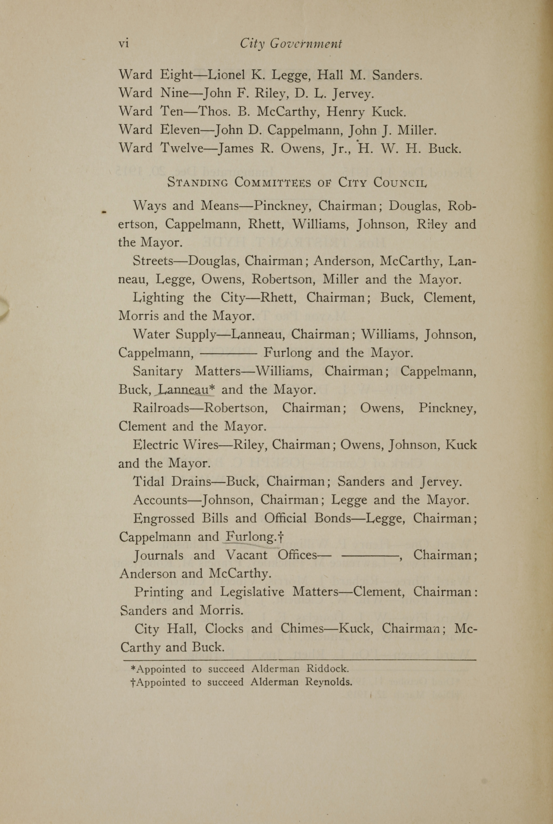 Charleston Yearbook, 1919, page vi