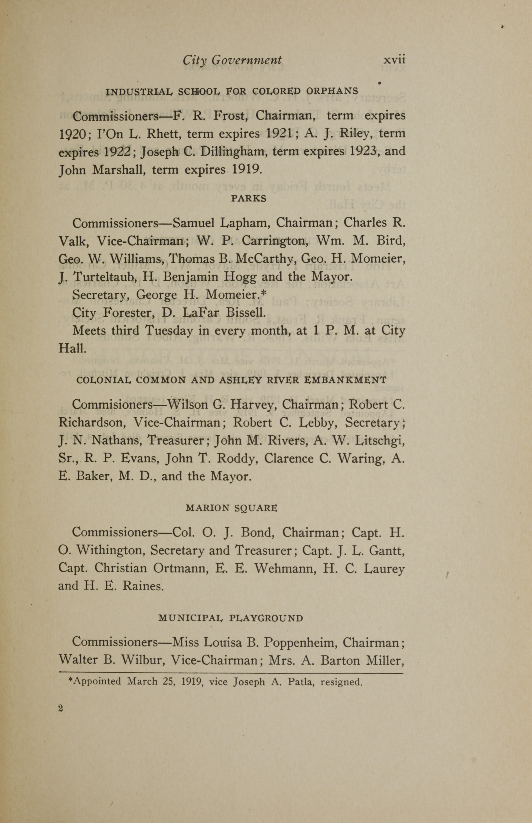 Charleston Yearbook, 1919, page xvii
