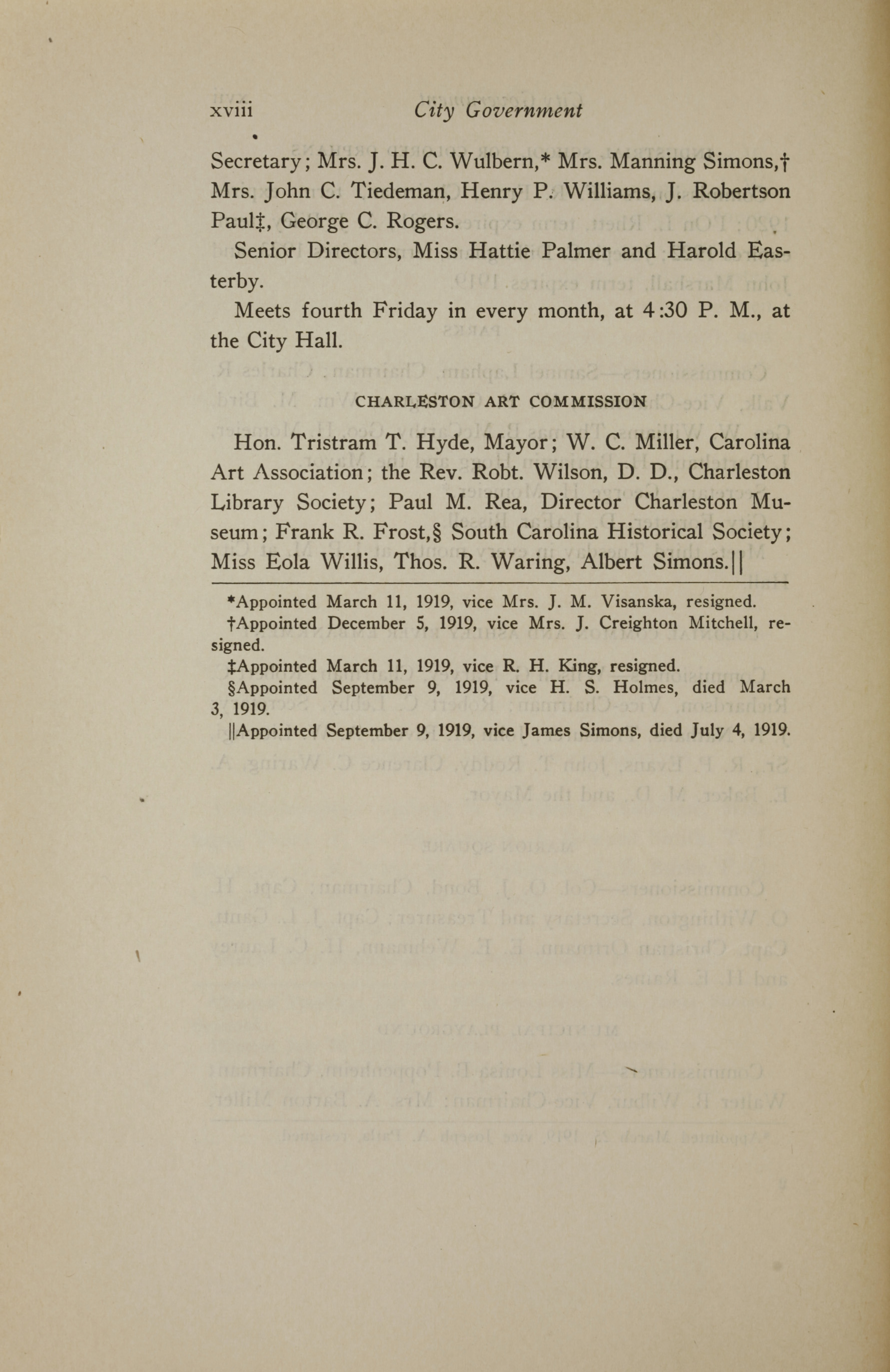 Charleston Yearbook, 1919, page xviii