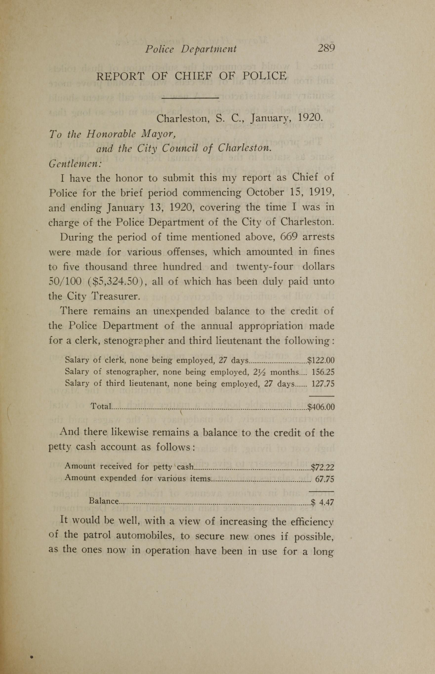 Charleston Yearbook, 1919, page 289