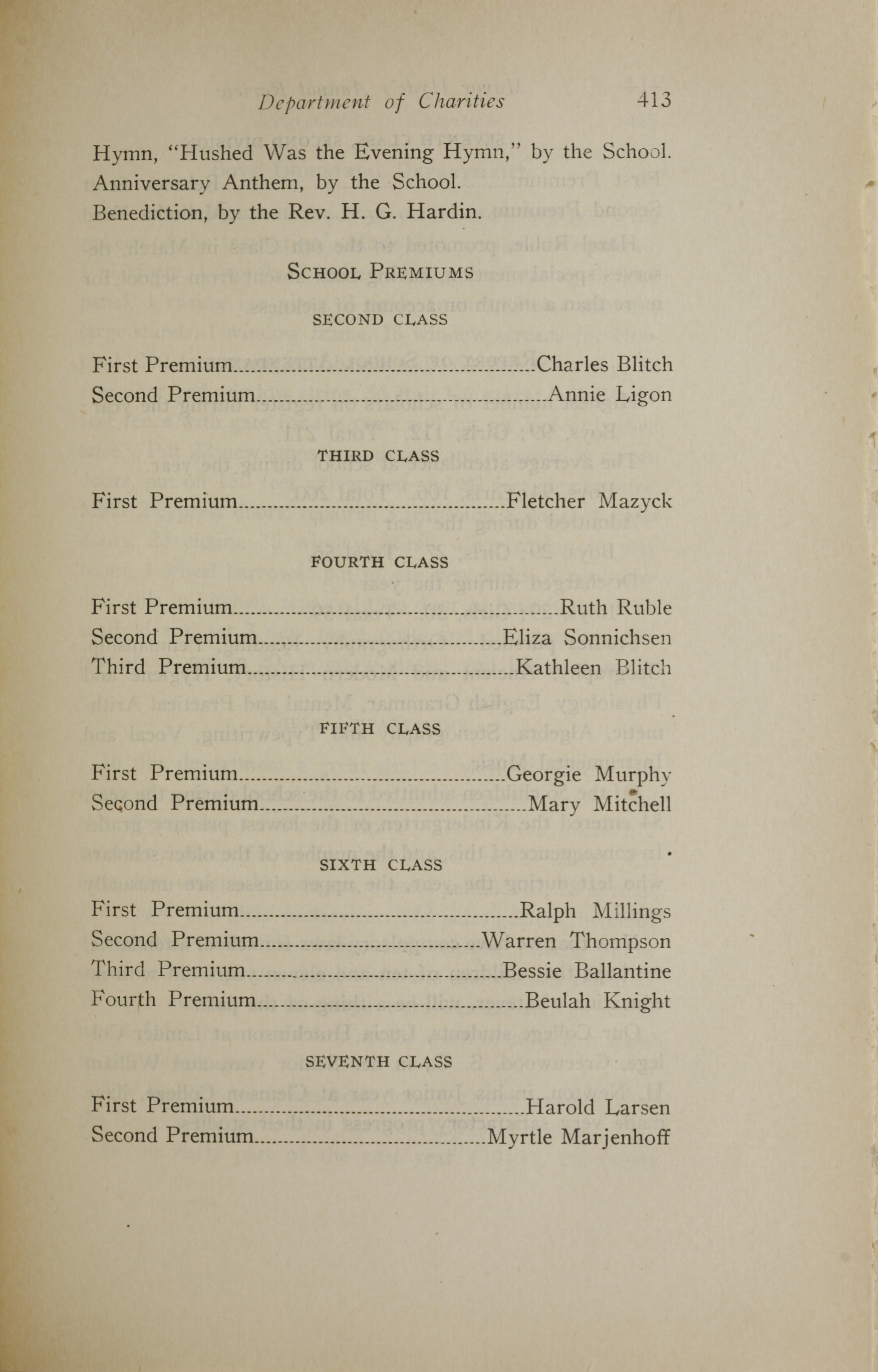 Charleston Yearbook, 1919, page 413