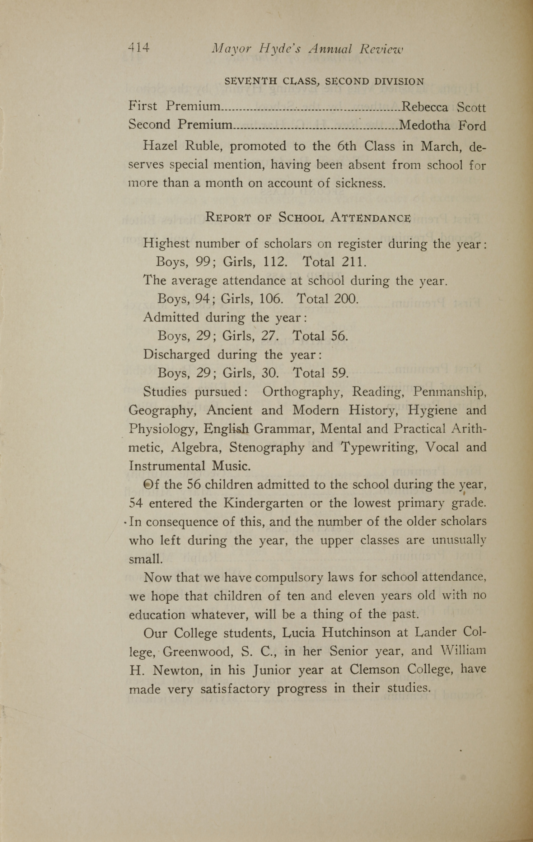 Charleston Yearbook, 1919, page 414