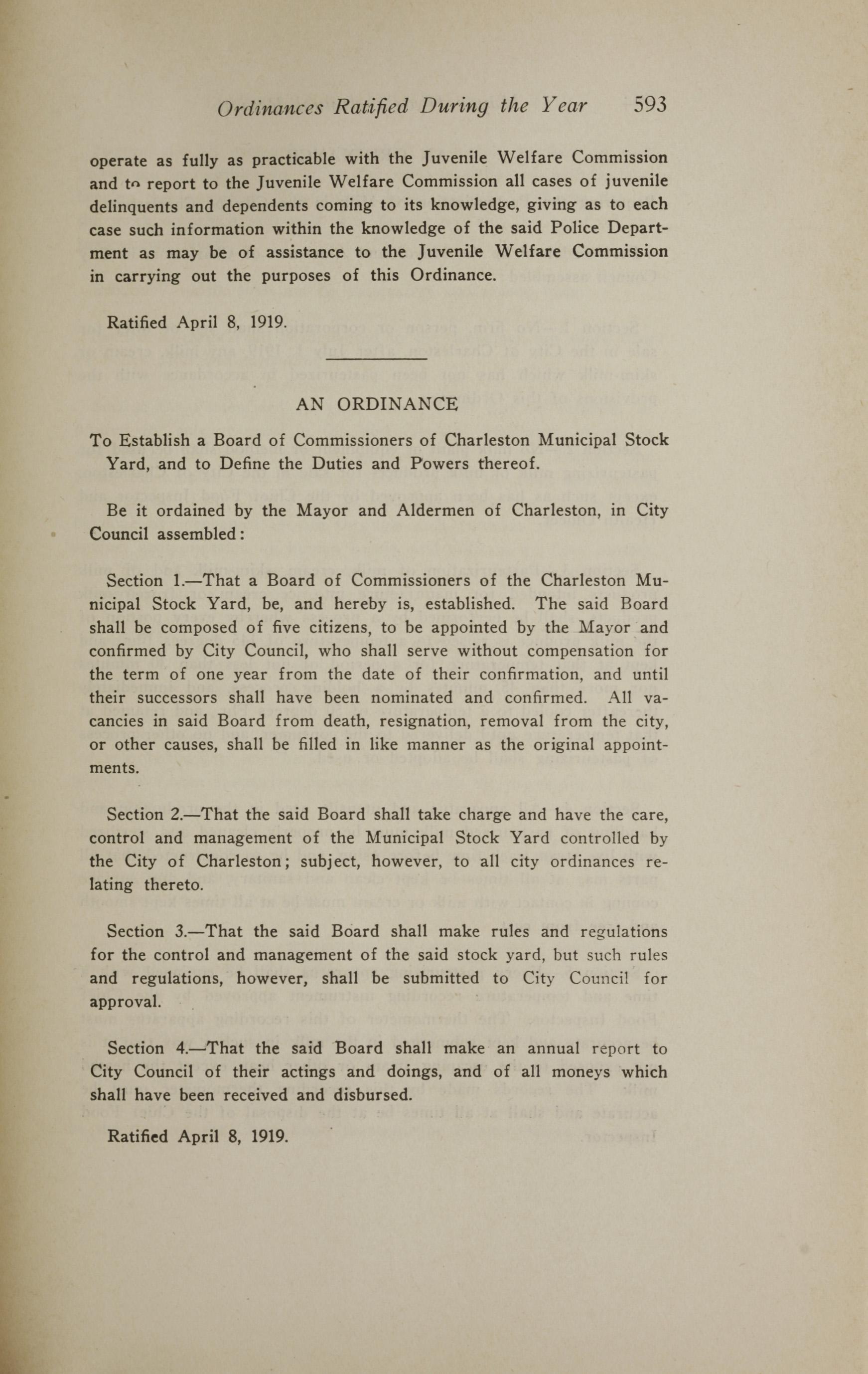 Charleston Yearbook, 1919, page 593