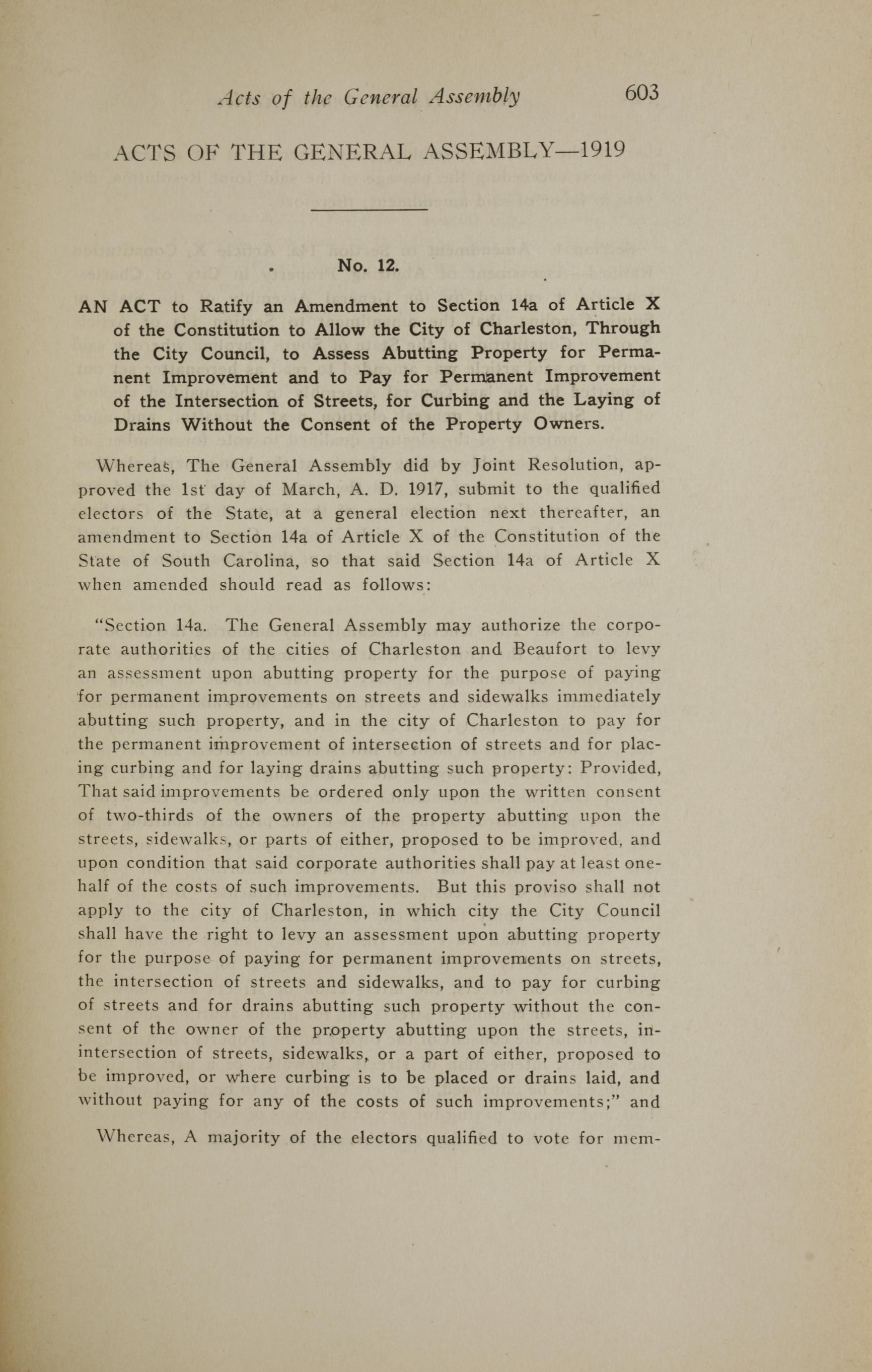 Charleston Yearbook, 1919, page 603