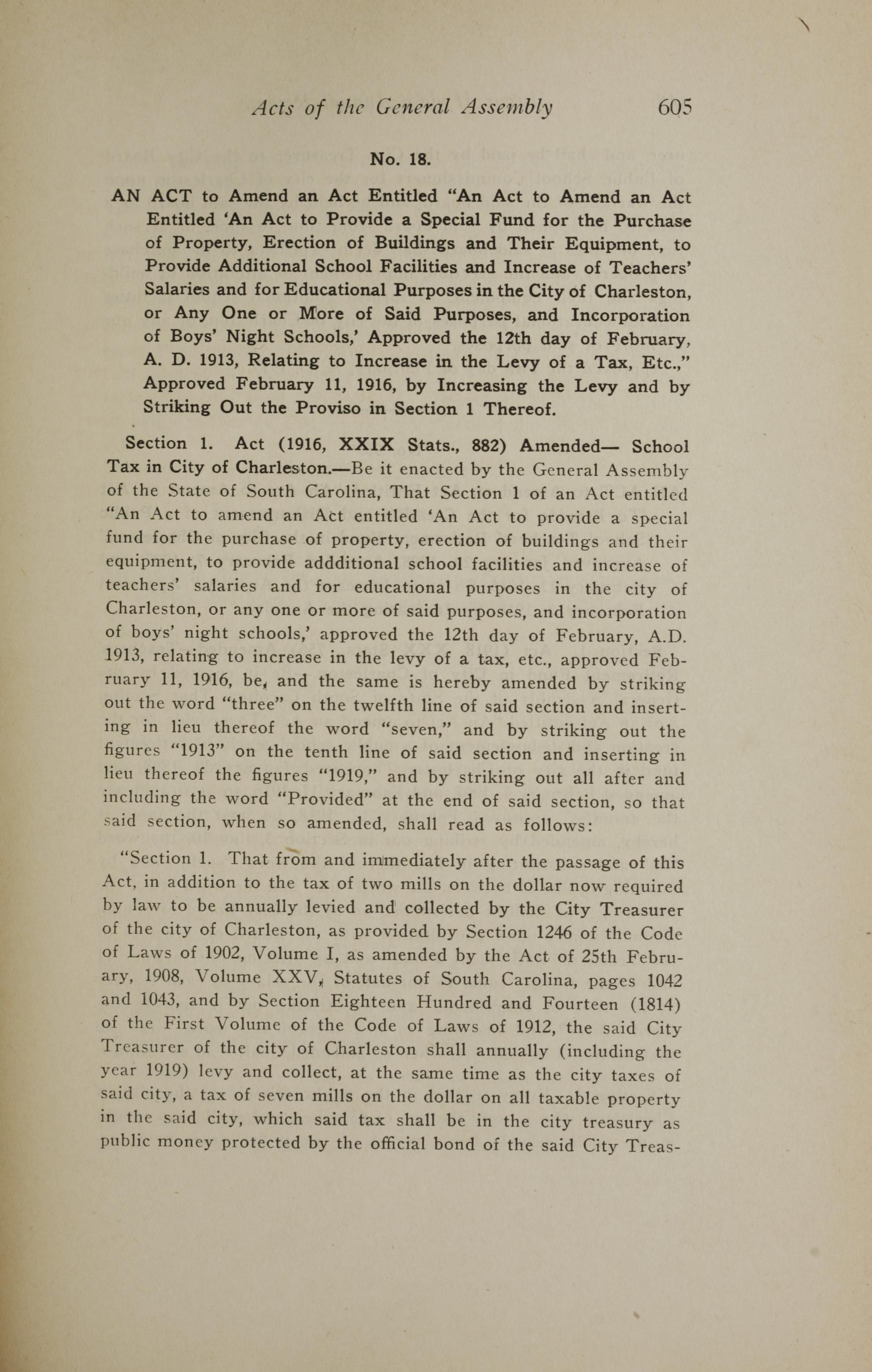 Charleston Yearbook, 1919, page 605