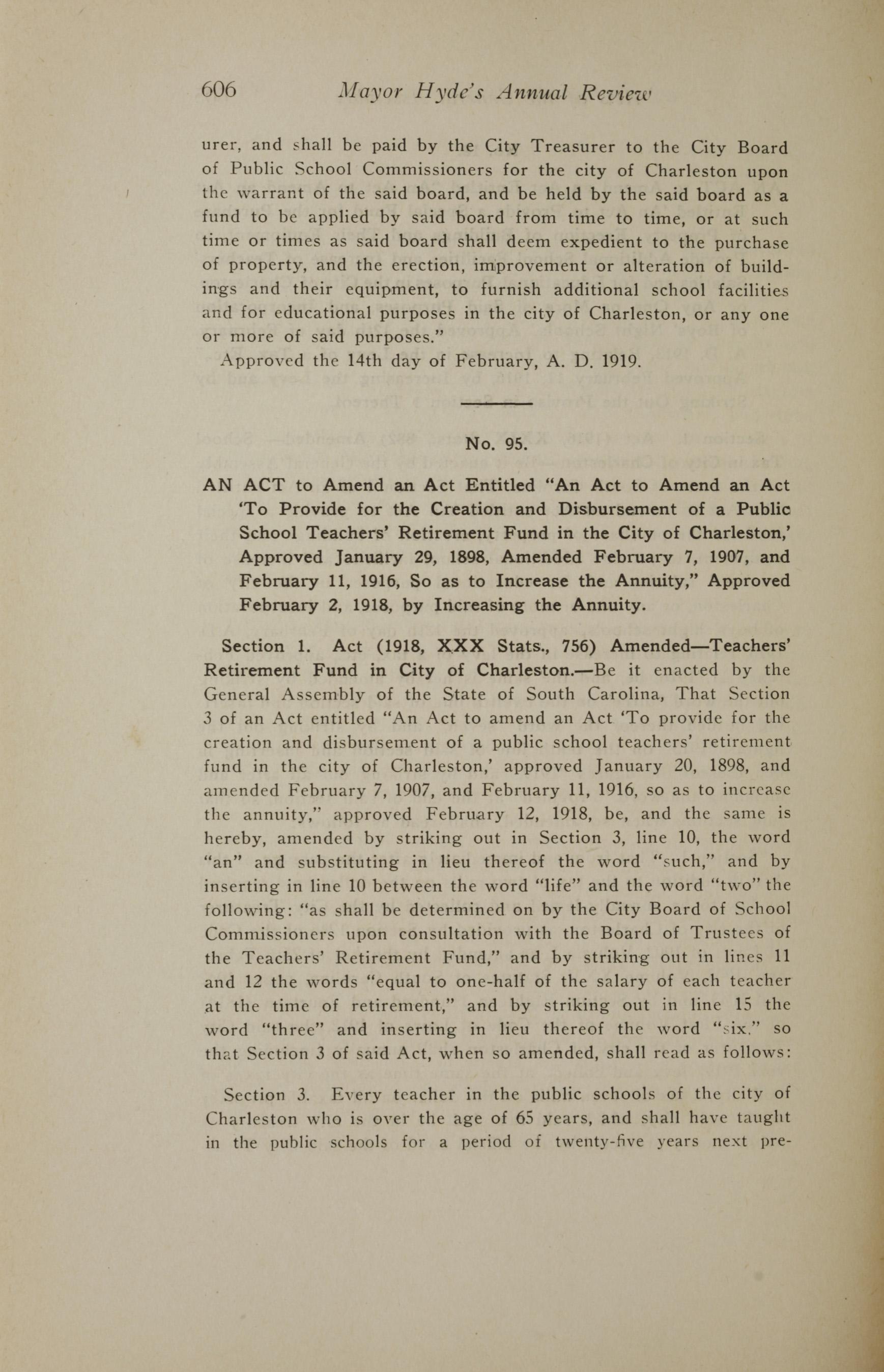 Charleston Yearbook, 1919, page 606