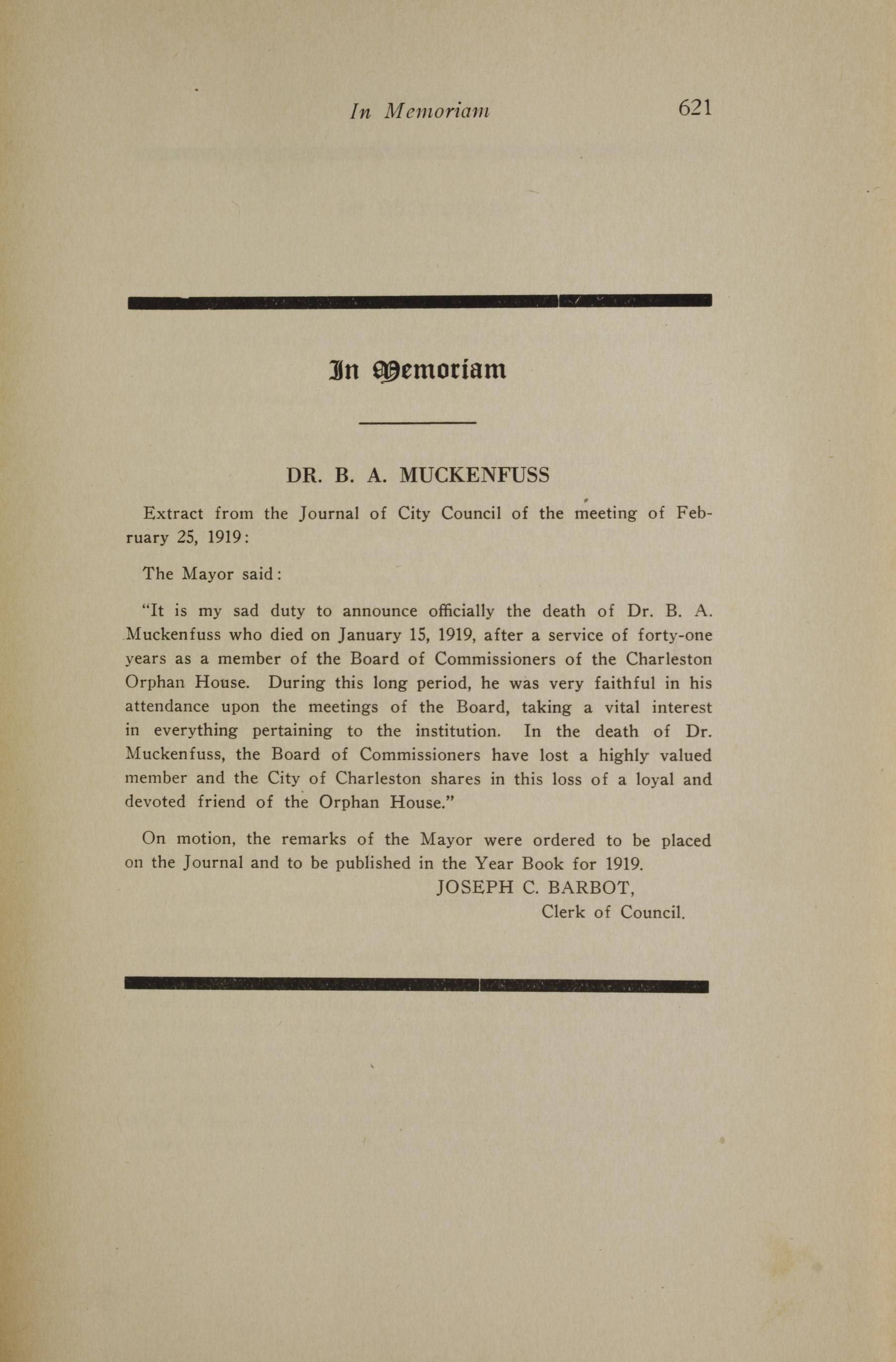 Charleston Yearbook, 1919, page 621