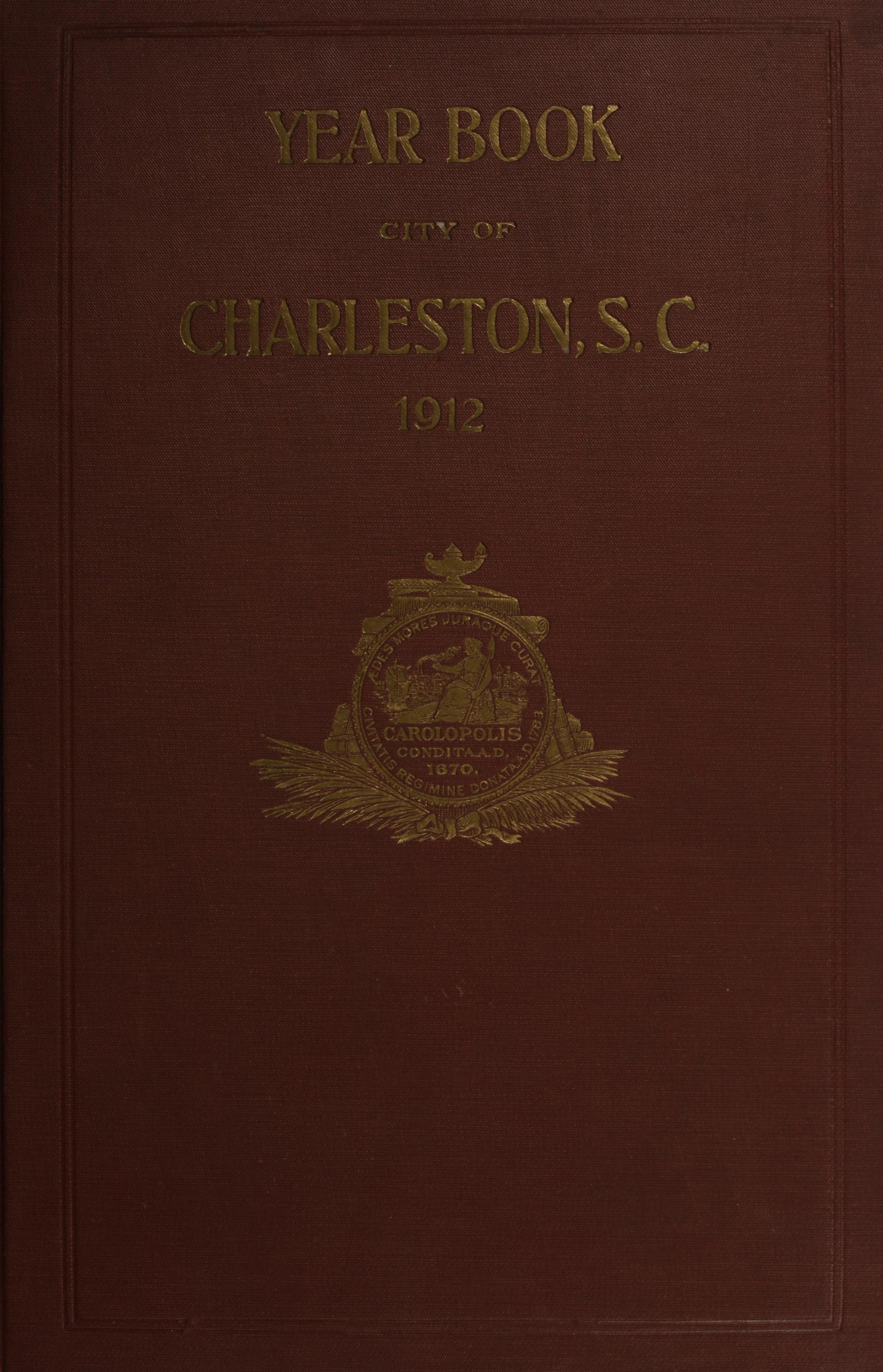 Charleston Yearbook, 1912, cover