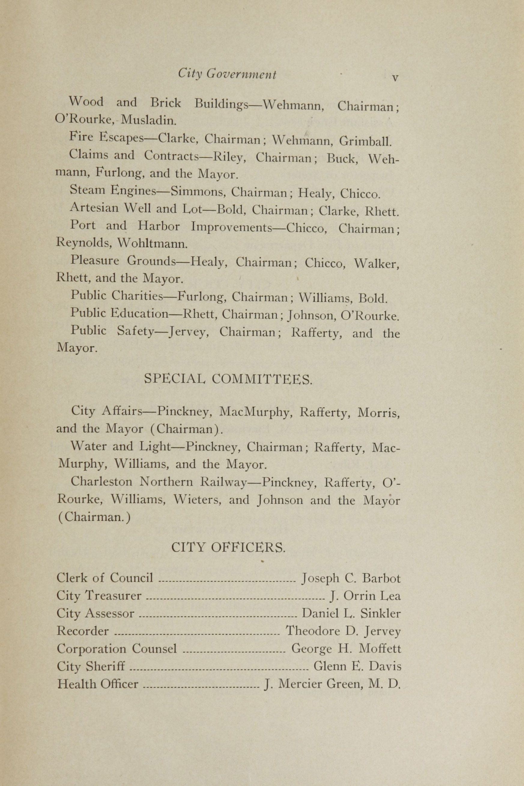 Charleston Yearbook, 1913, page v
