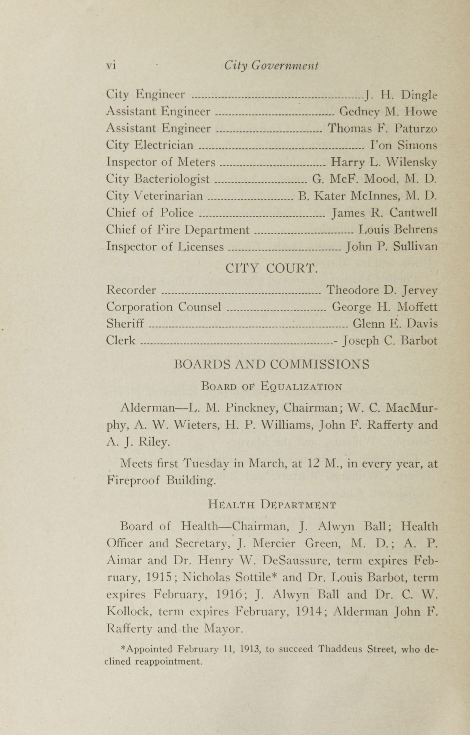 Charleston Yearbook, 1913, page vi