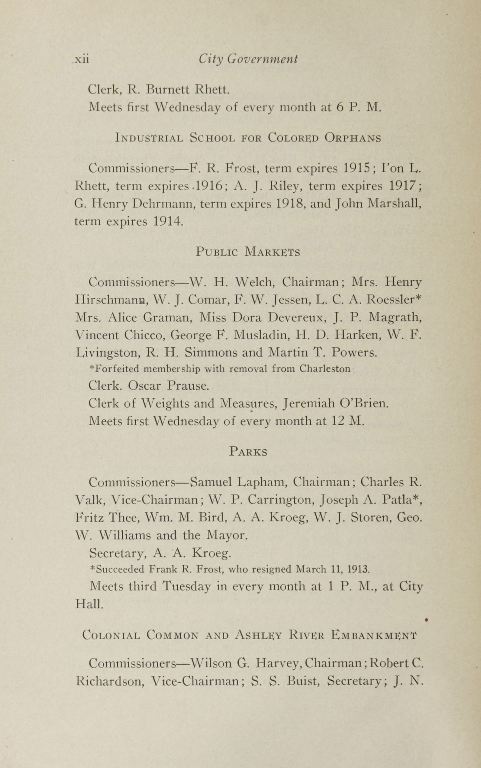 Charleston Yearbook, 1913, page xii