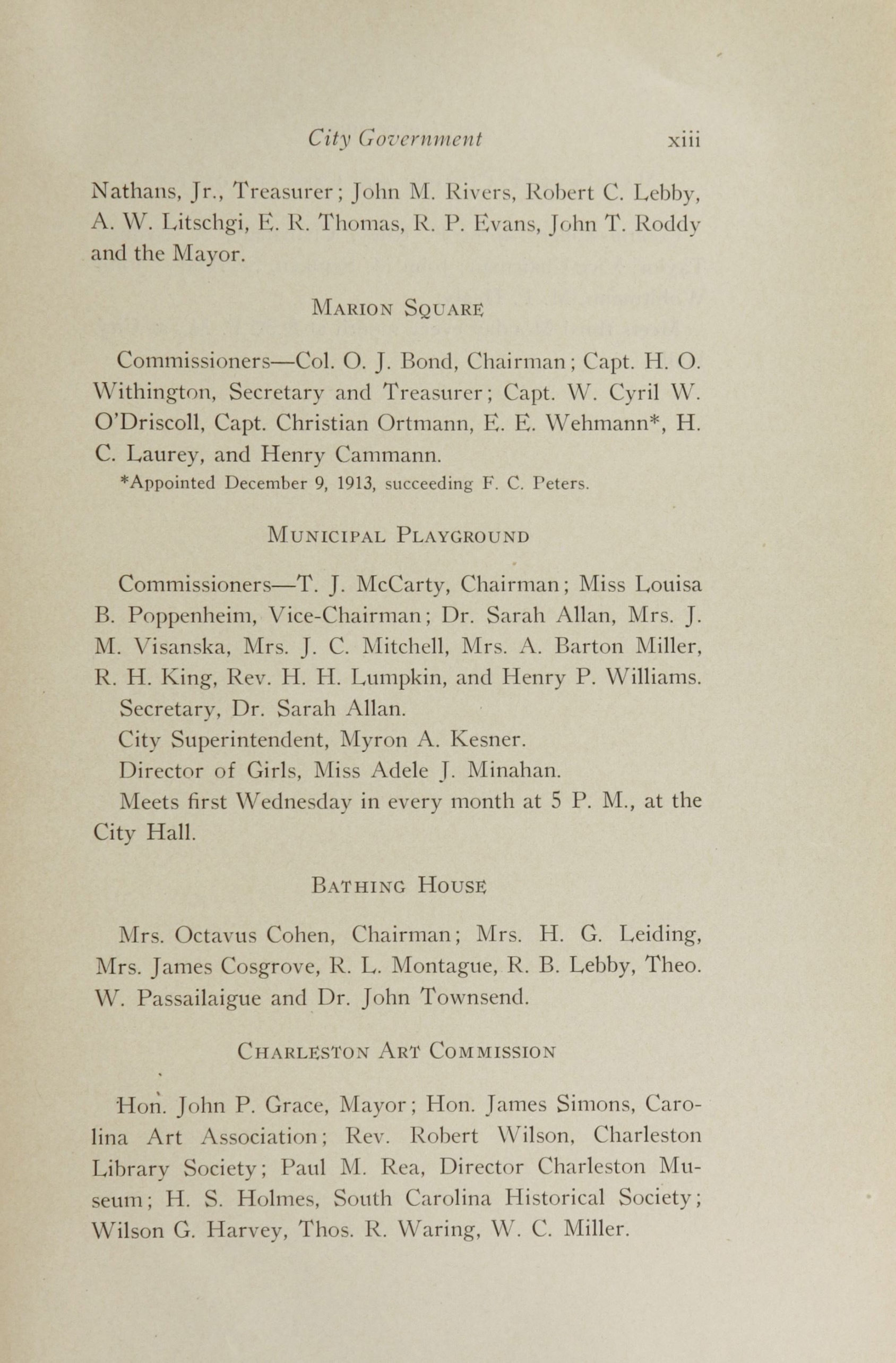 Charleston Yearbook, 1913, page xiii