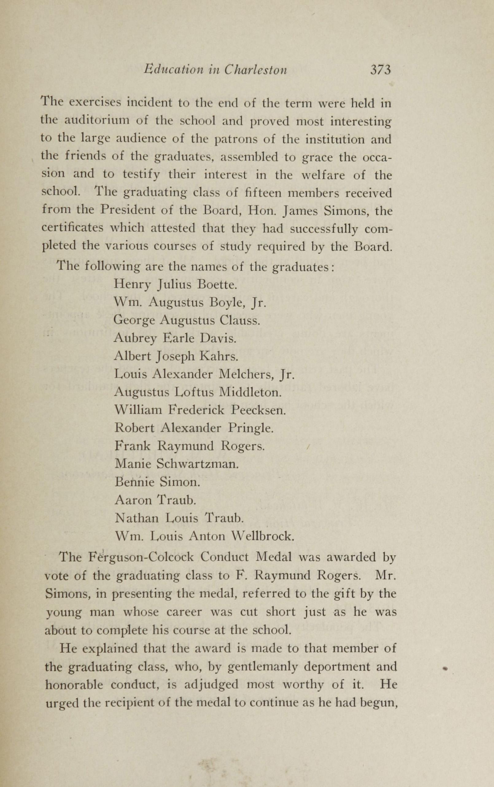 Charleston Yearbook, 1913, page 373