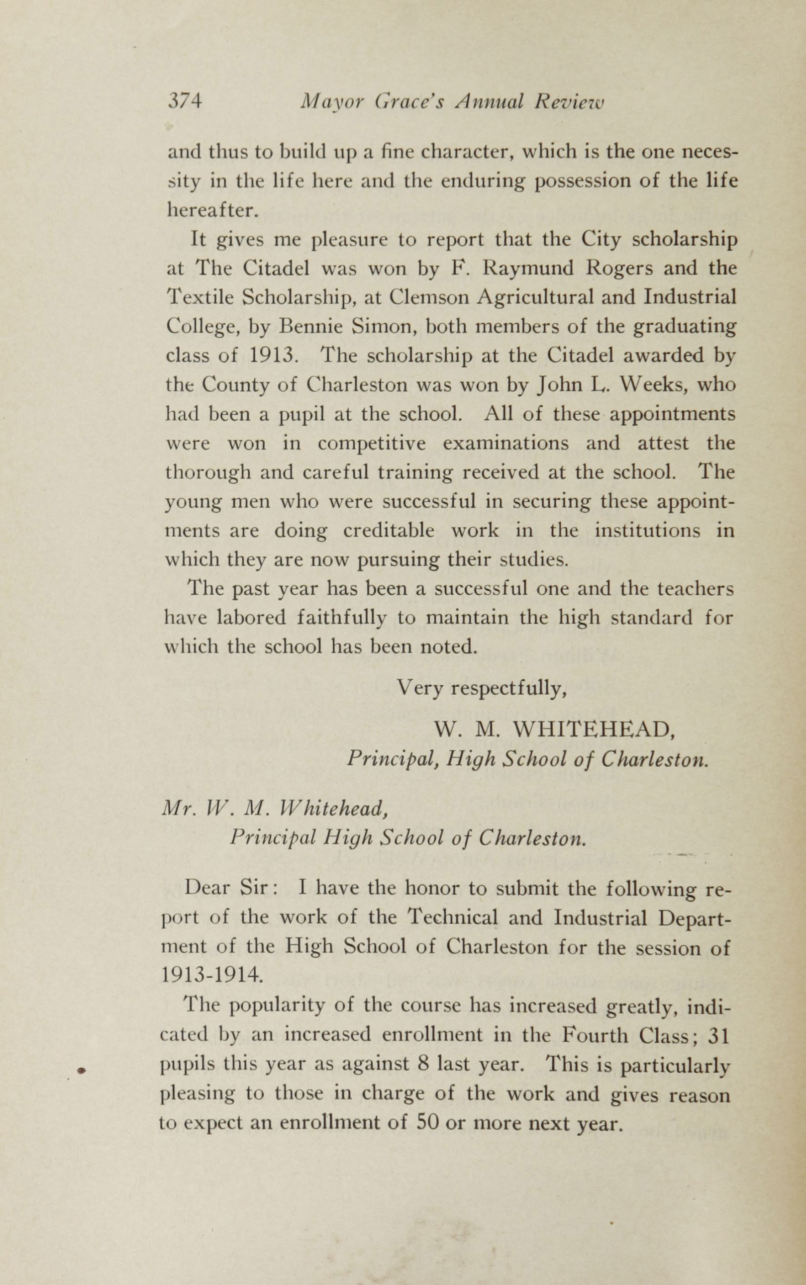 Charleston Yearbook, 1913, page 374