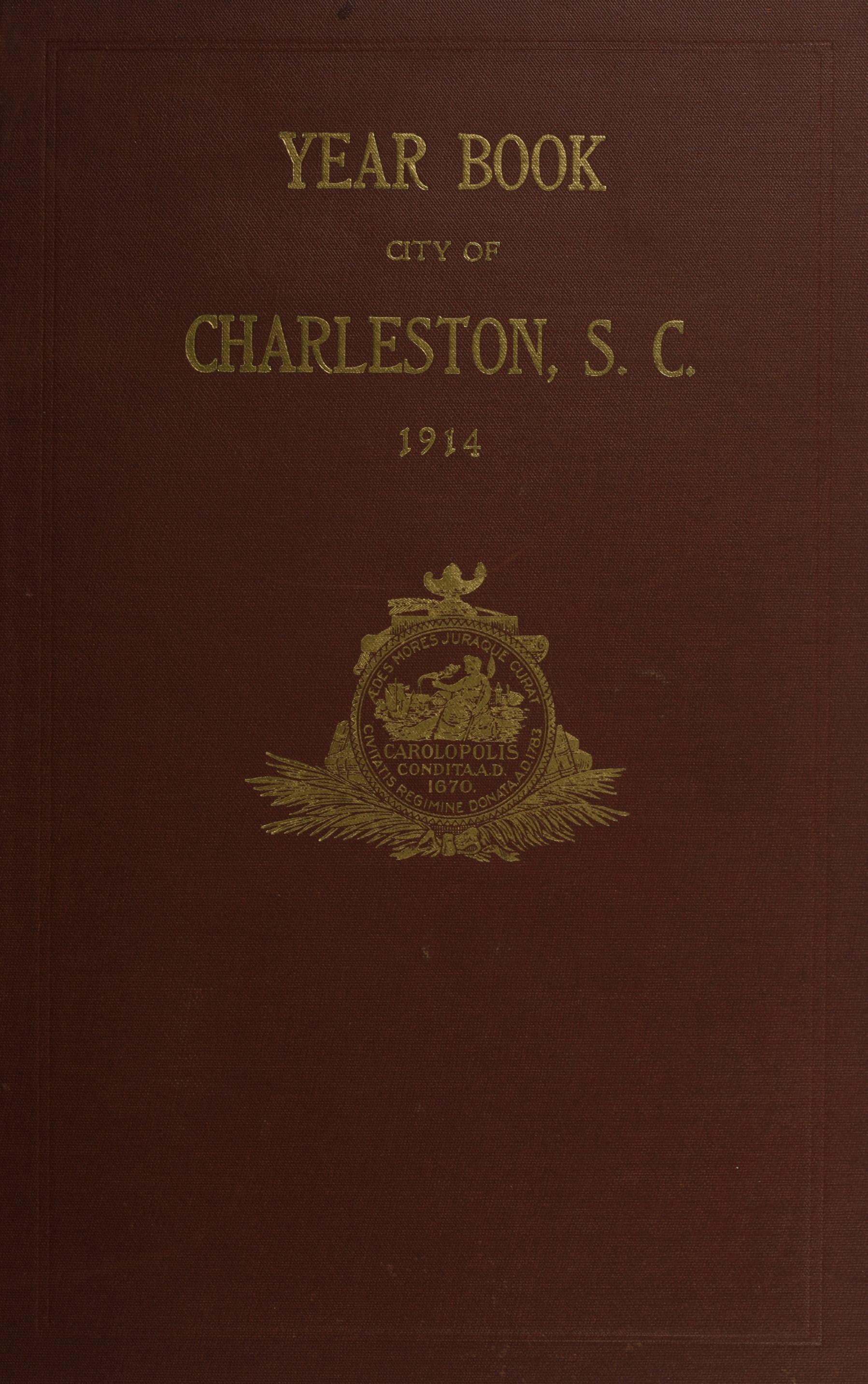 Charleston Yearbook, 1914, cover