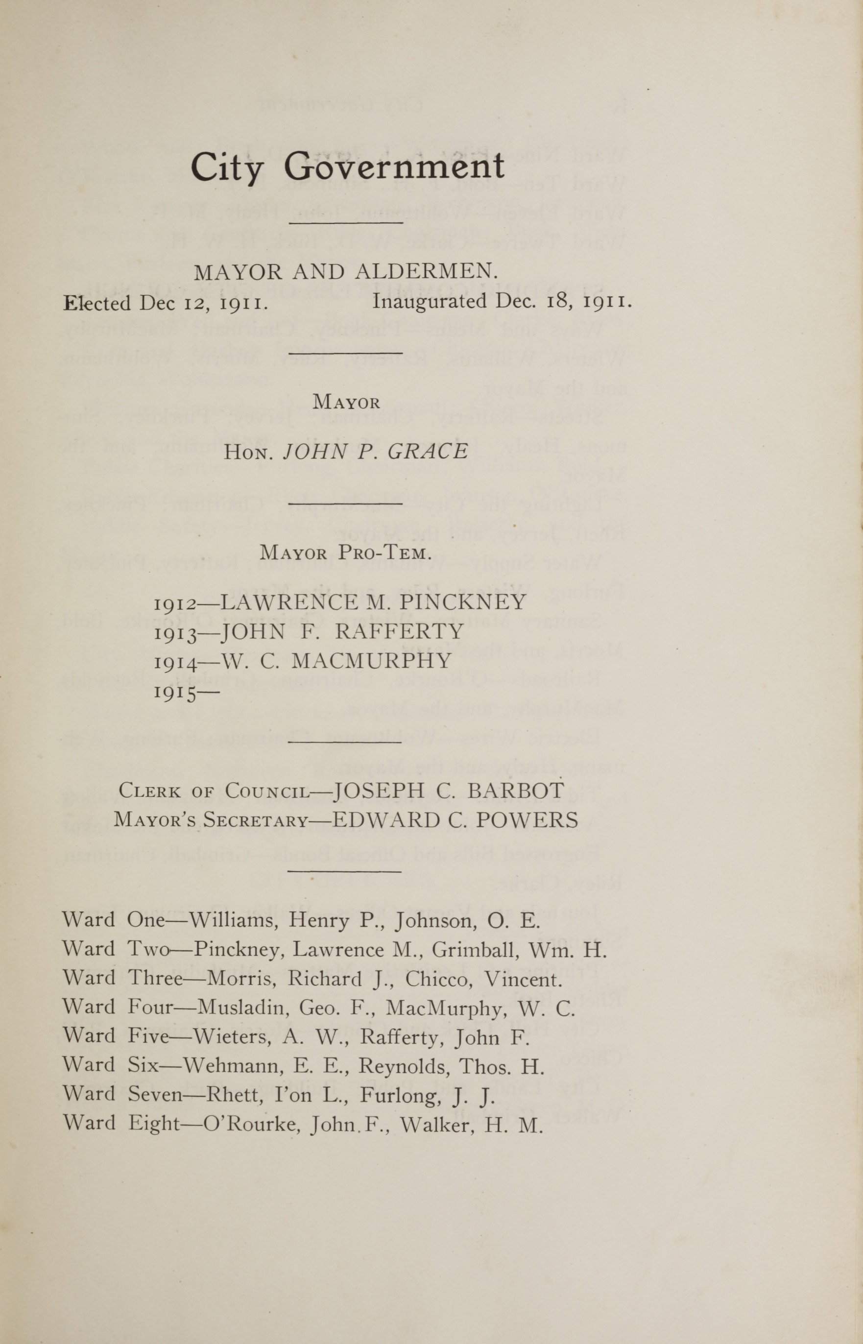 Charleston Yearbook, 1914, page iii