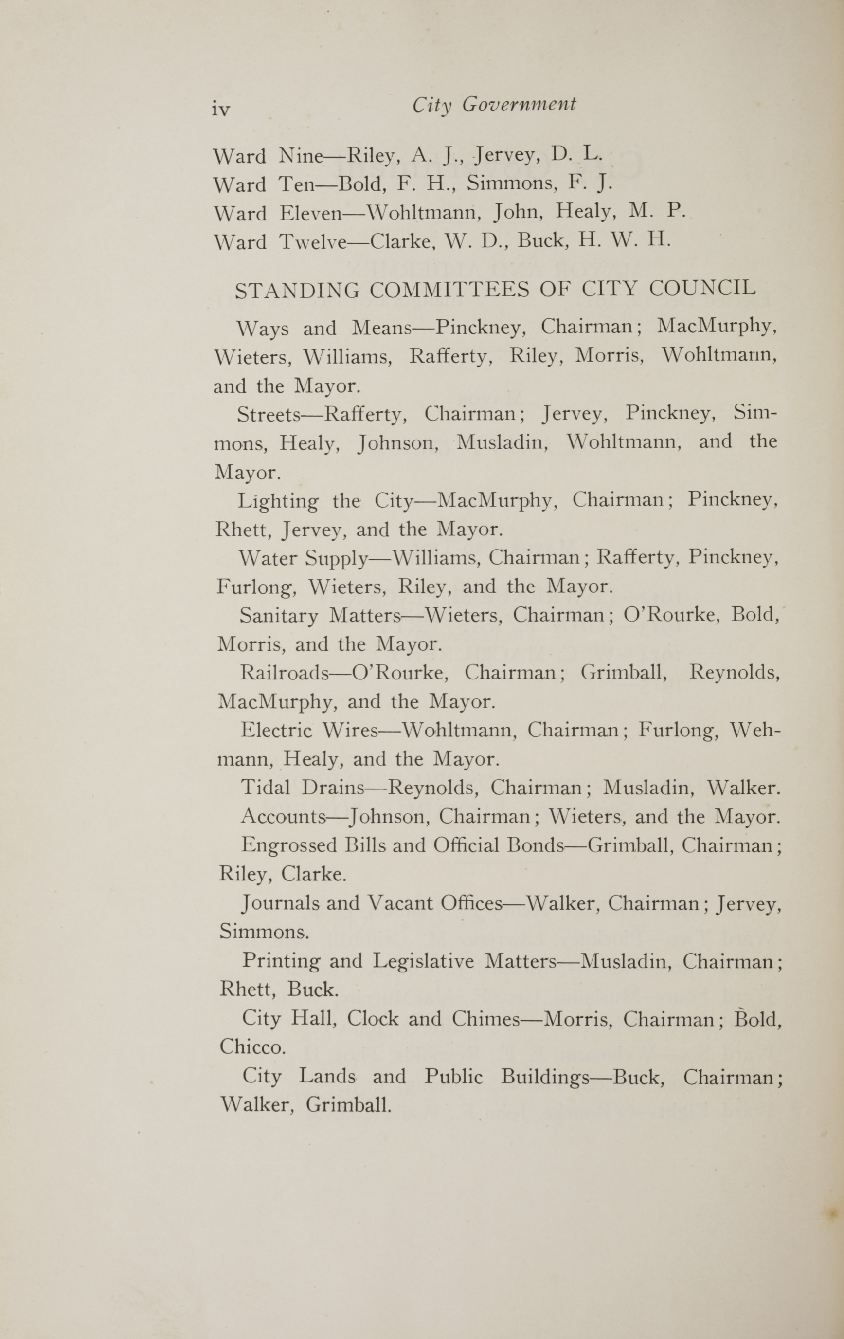 Charleston Yearbook, 1914, page iv
