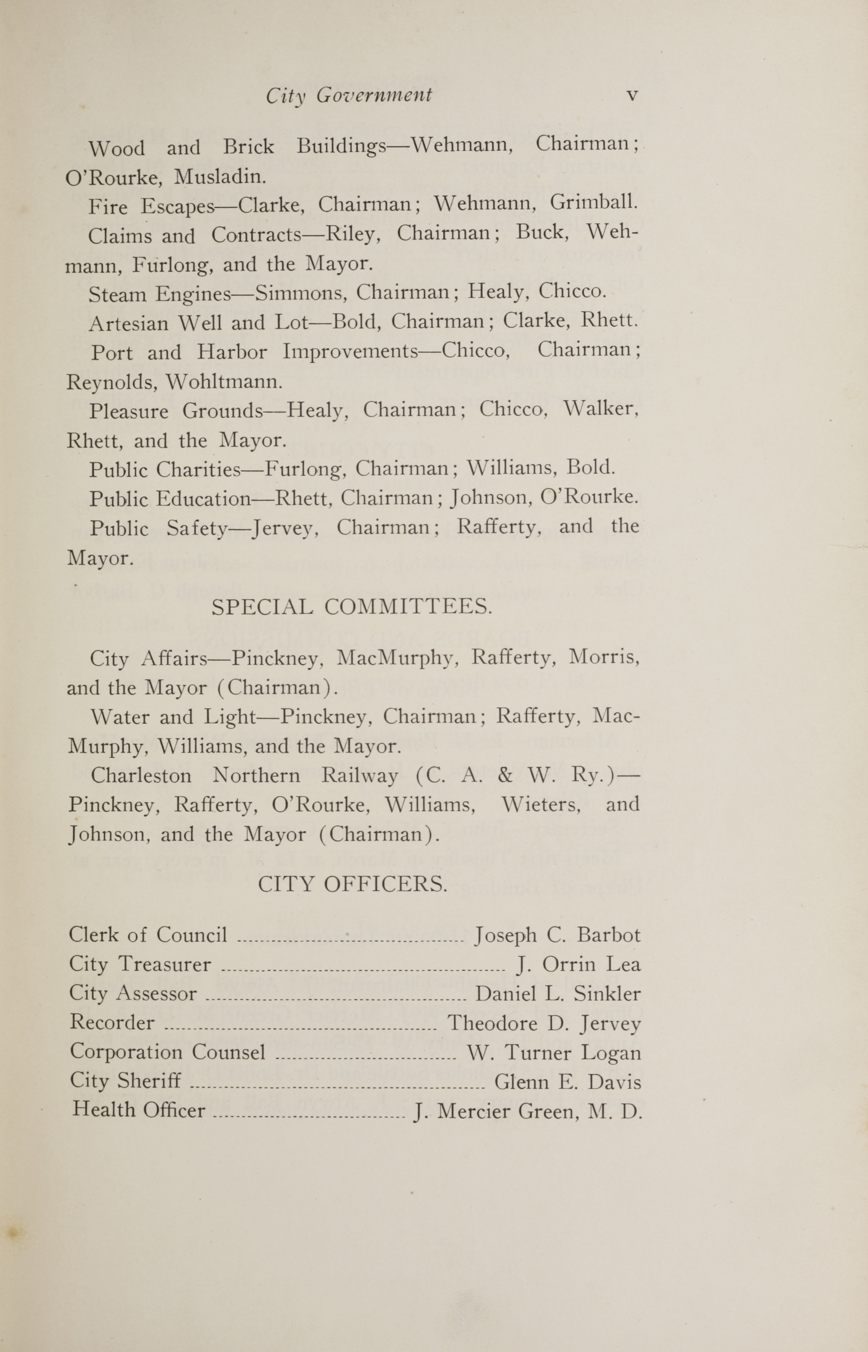 Charleston Yearbook, 1914, page v