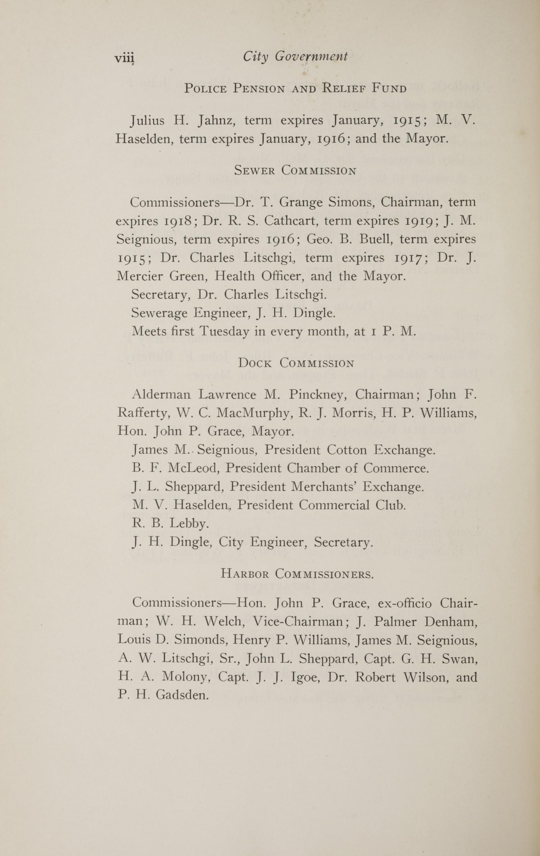Charleston Yearbook, 1914, page viii