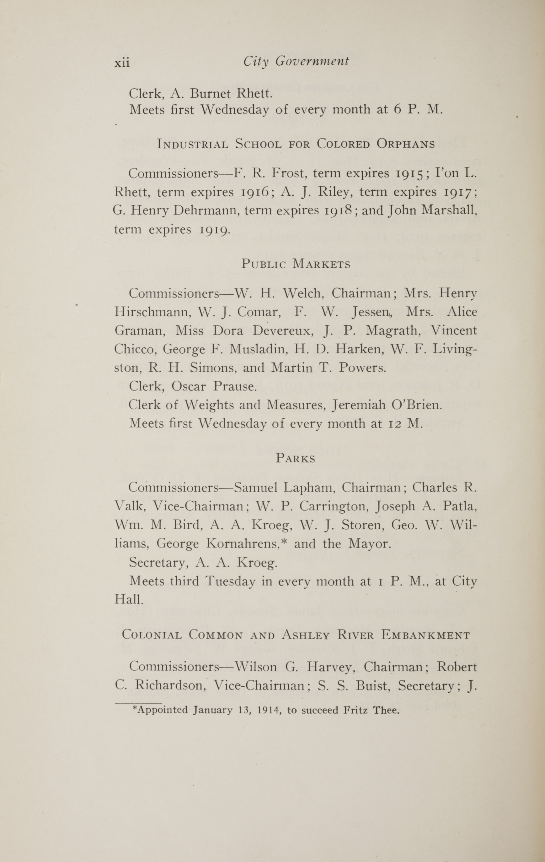 Charleston Yearbook, 1914, page xii