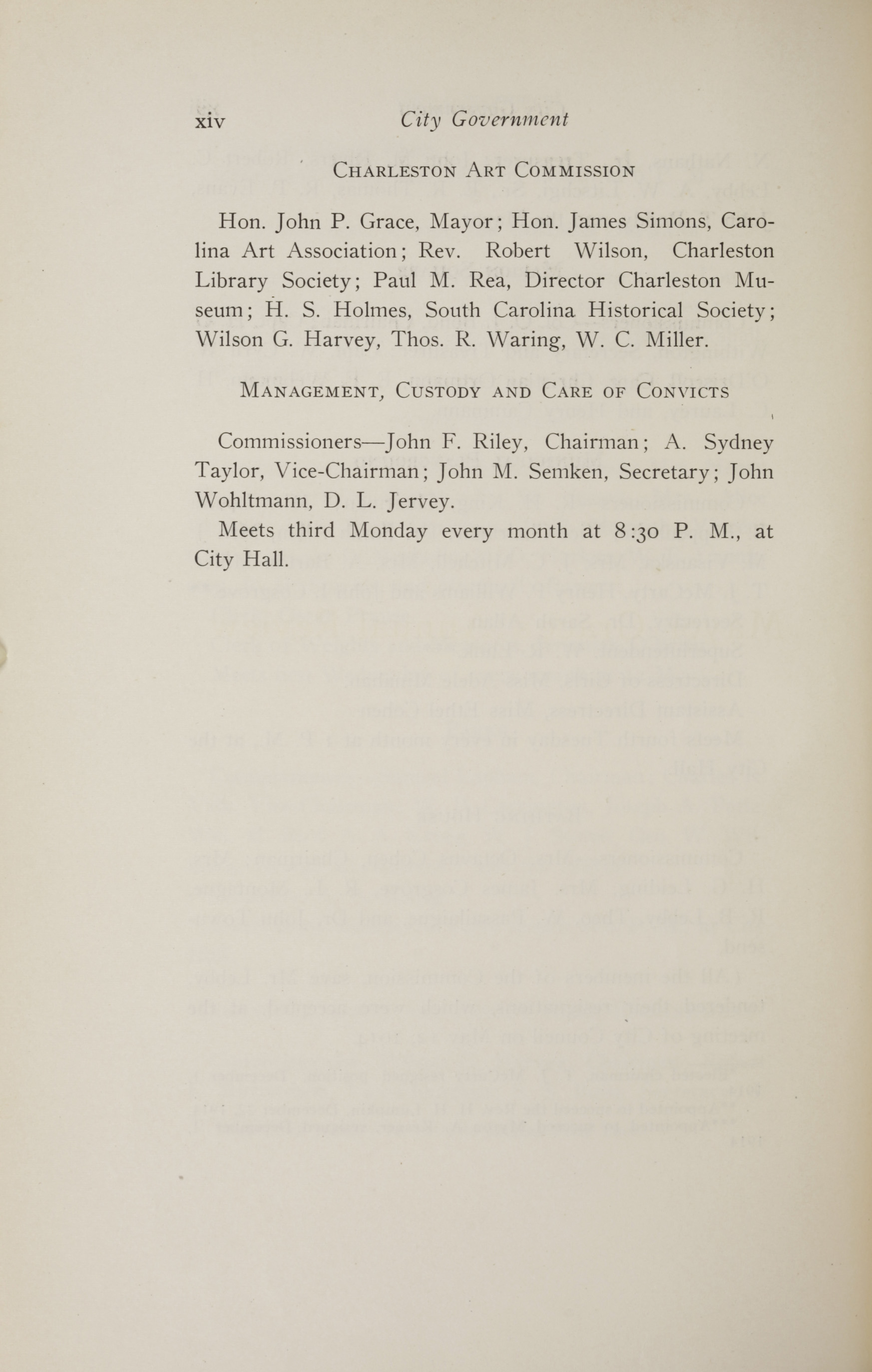 Charleston Yearbook, 1914, page xiv