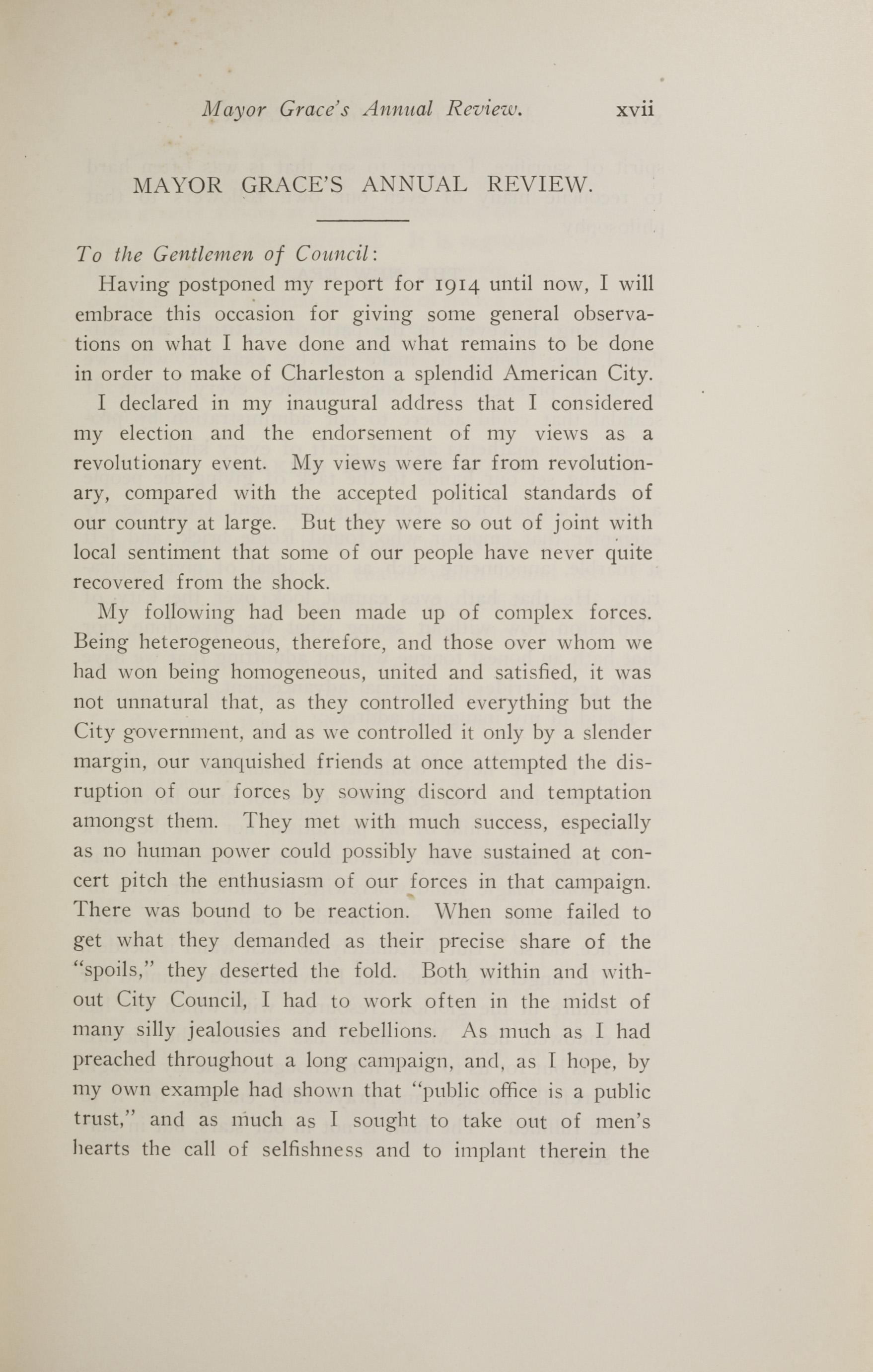 Charleston Yearbook, 1914, page xvii