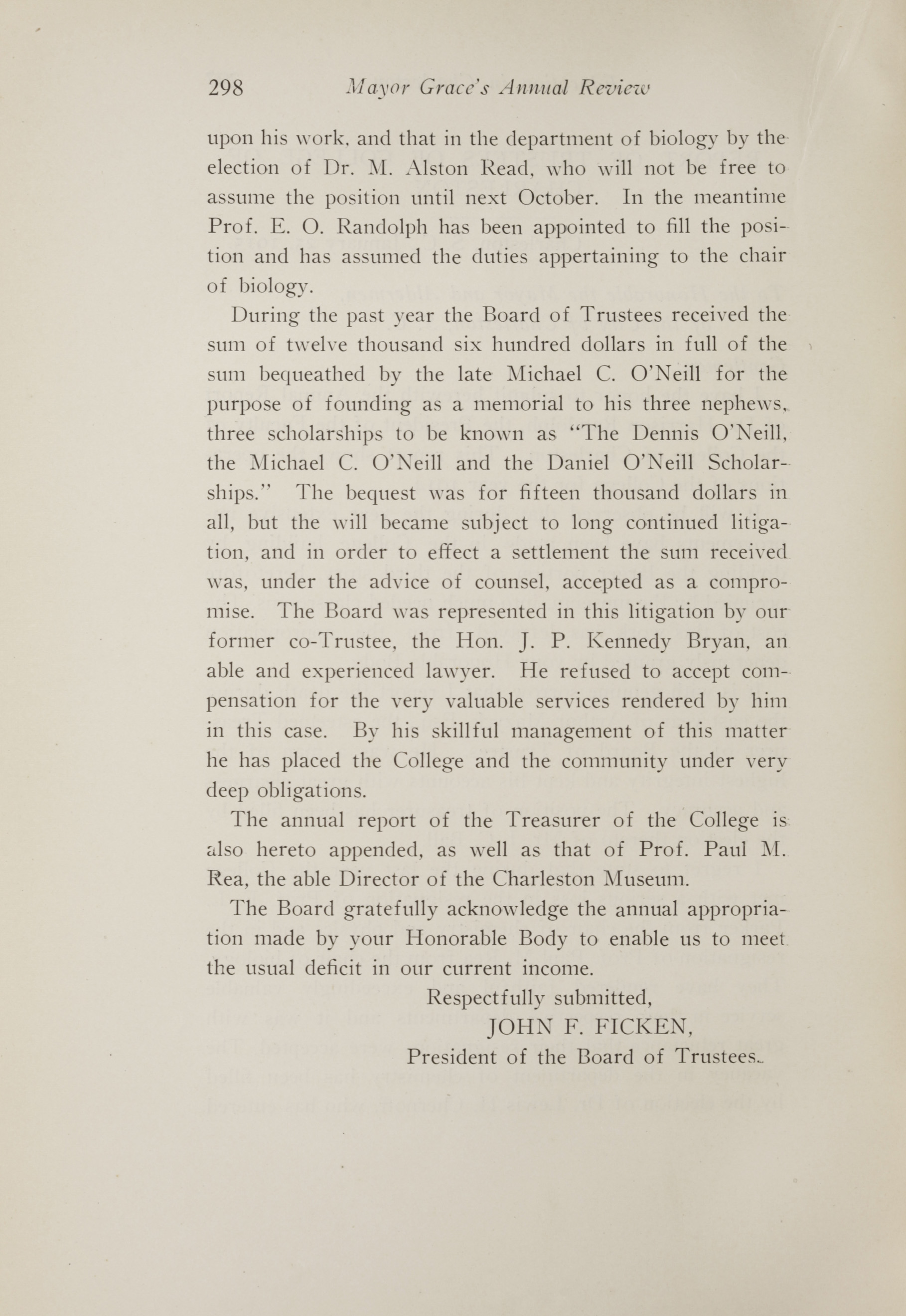 Charleston Yearbook, 1914, page 298