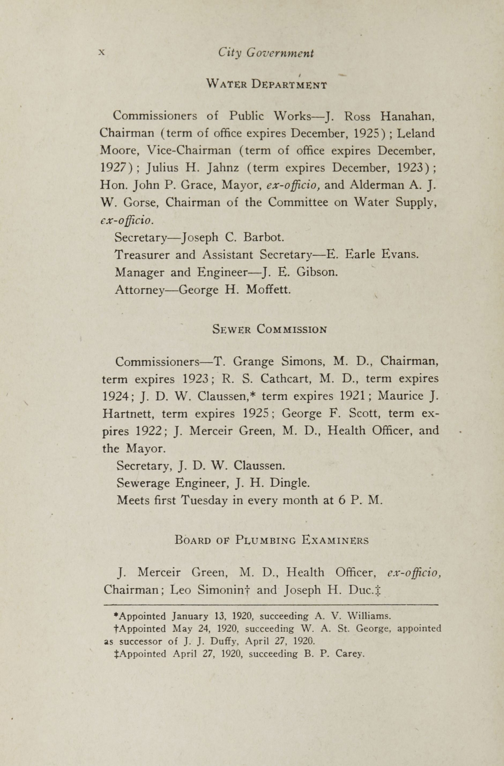 Charleston Yearbook, 1920, page x