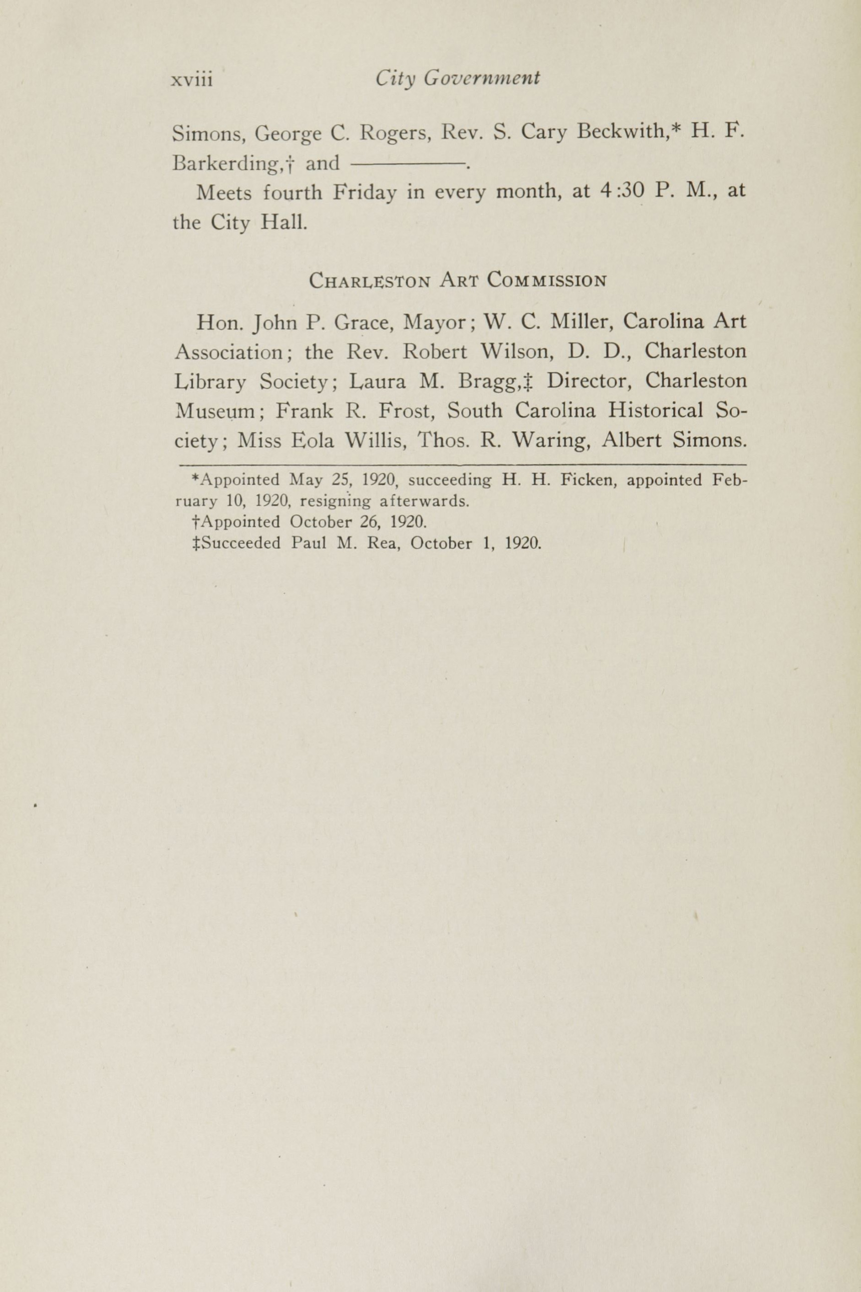 Charleston Yearbook, 1920, page viii