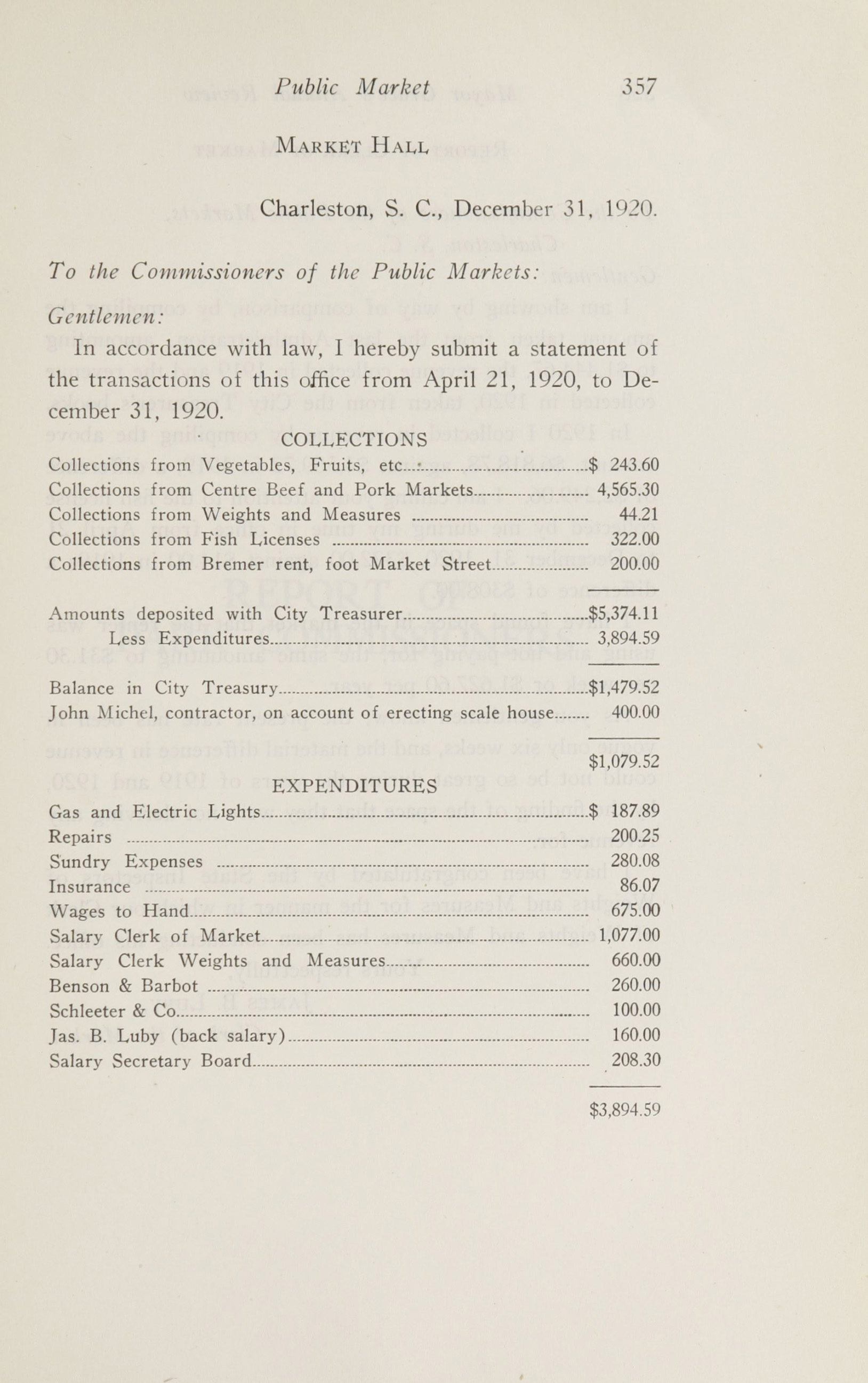Charleston Yearbook, 1920, page 357