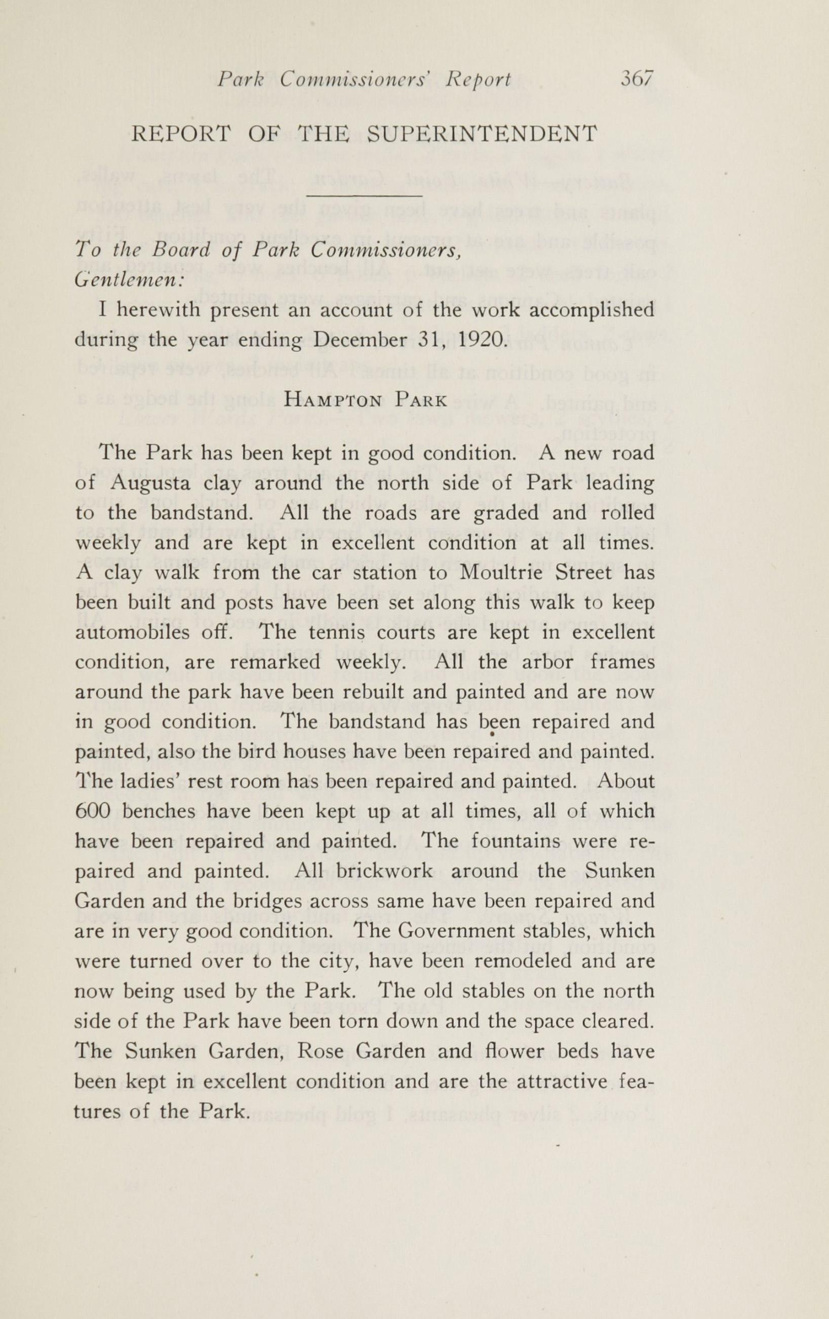 Charleston Yearbook, 1920, page 367