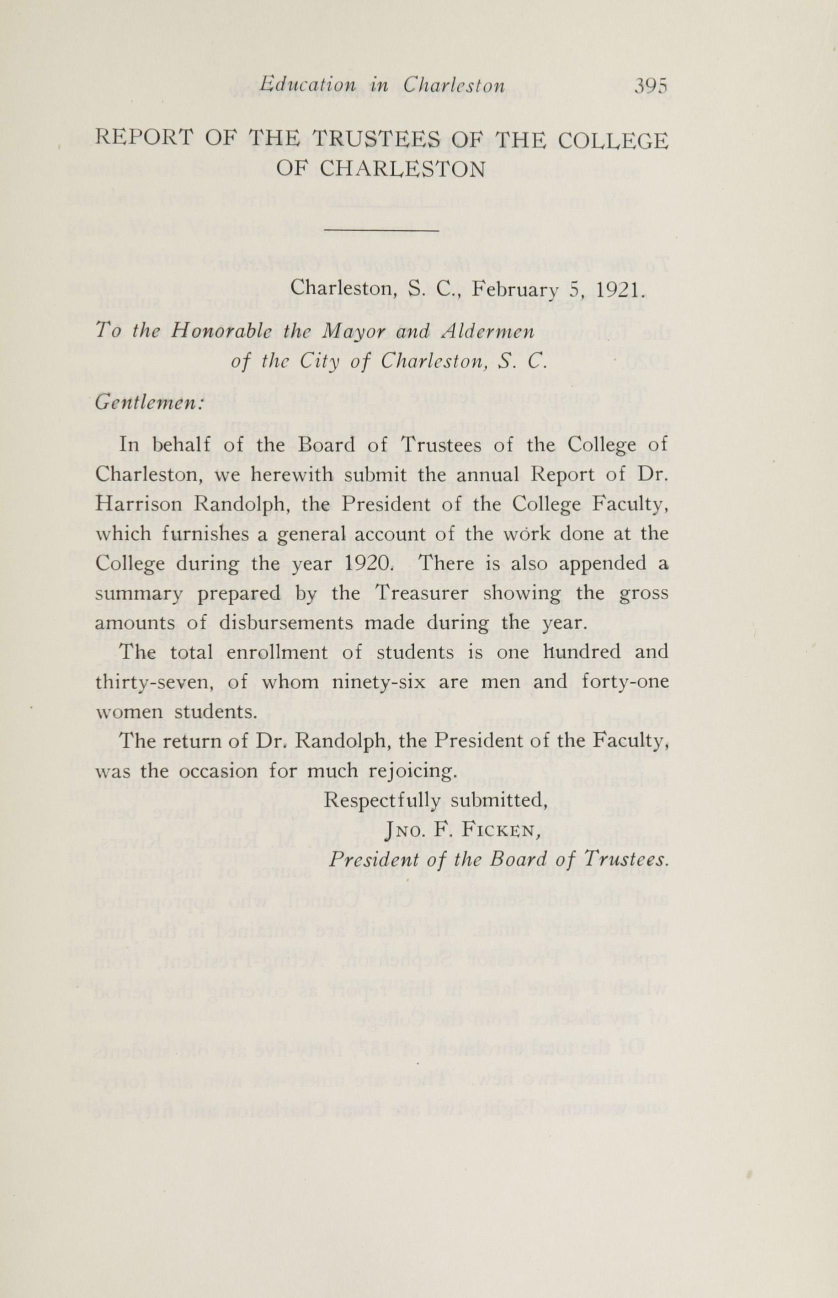 Charleston Yearbook, 1920, page 395