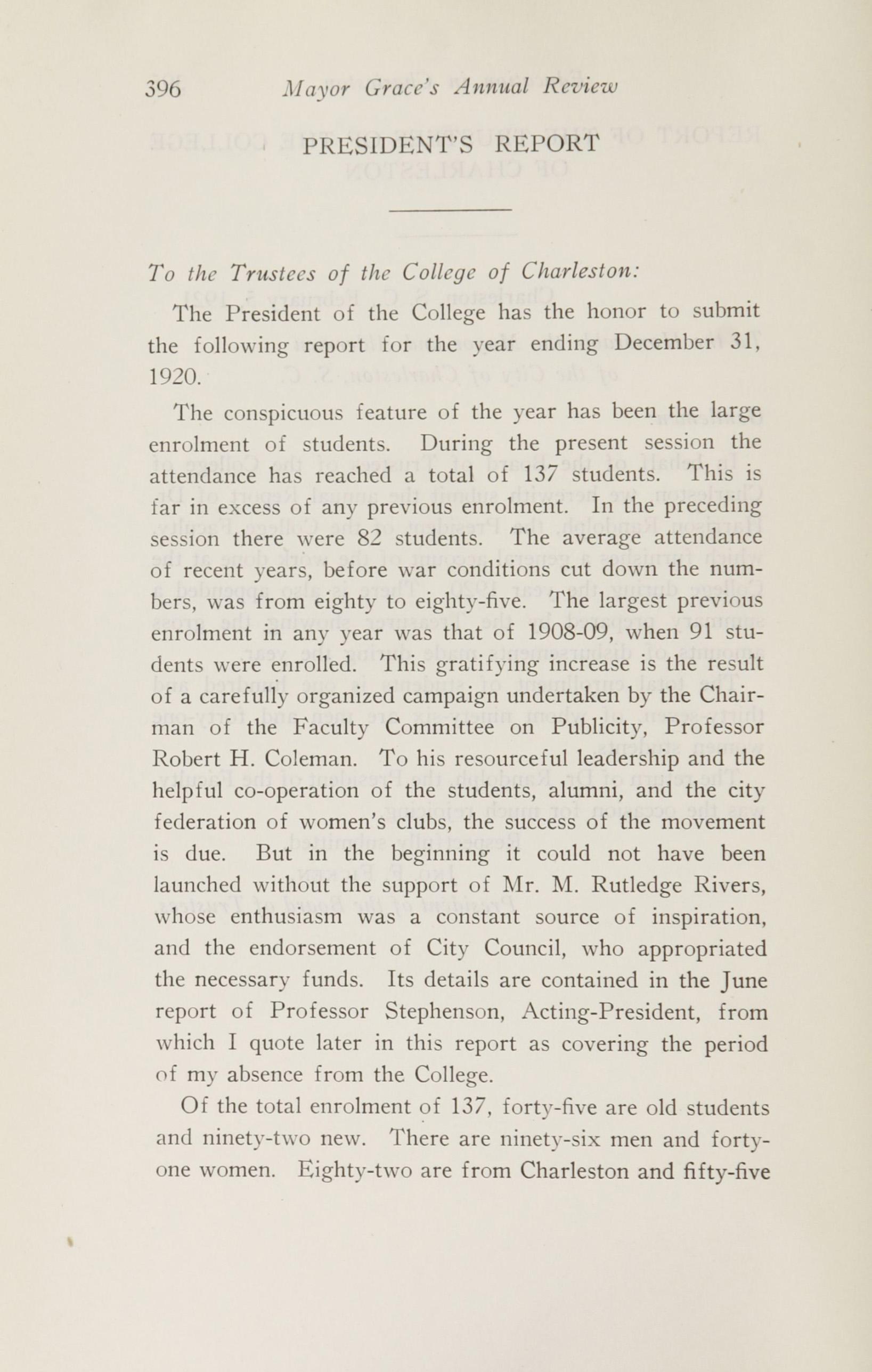 Charleston Yearbook, 1920, page 396