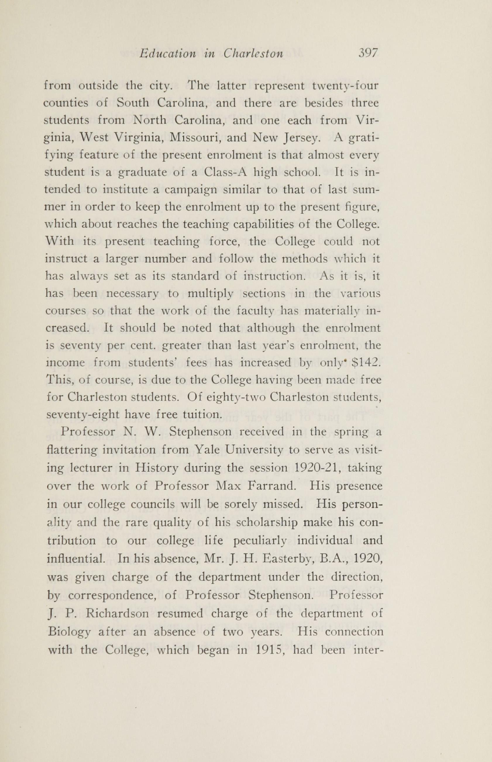 Charleston Yearbook, 1920, page 397