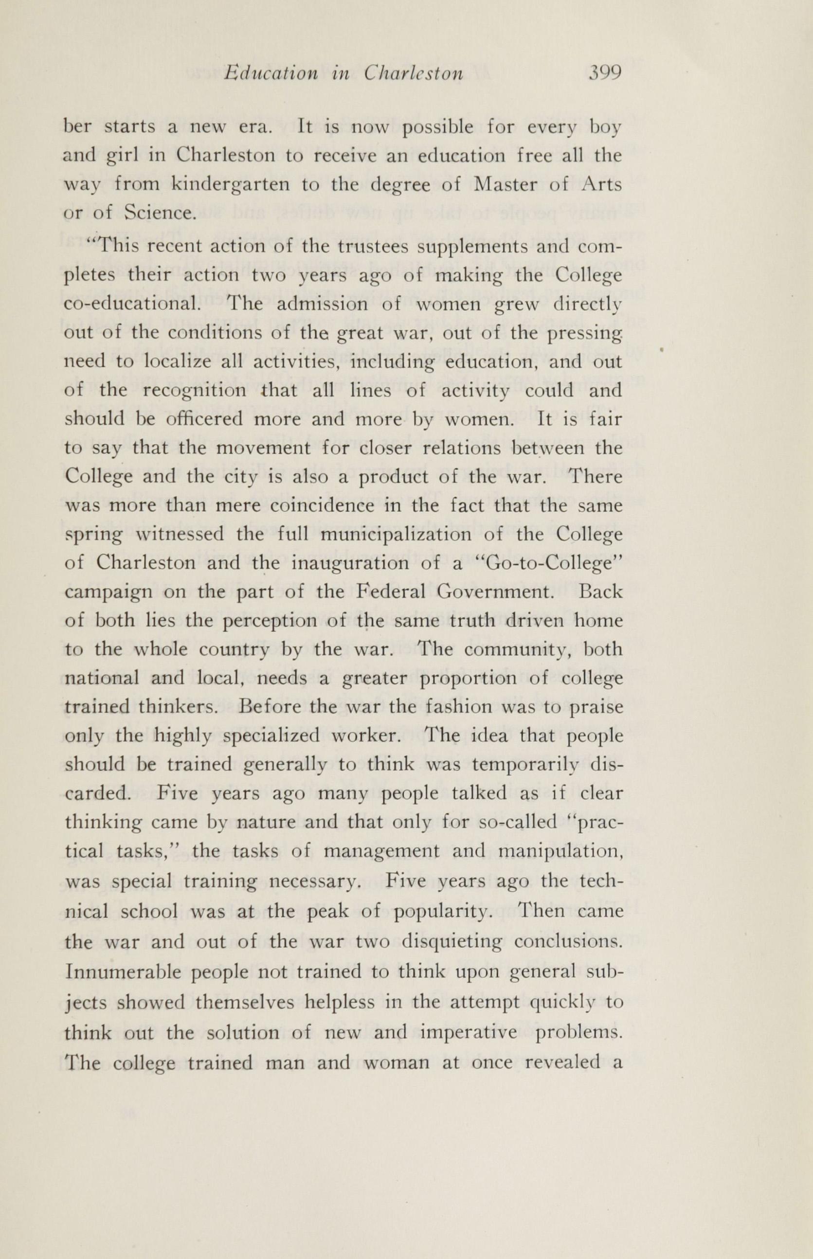 Charleston Yearbook, 1920, page 399